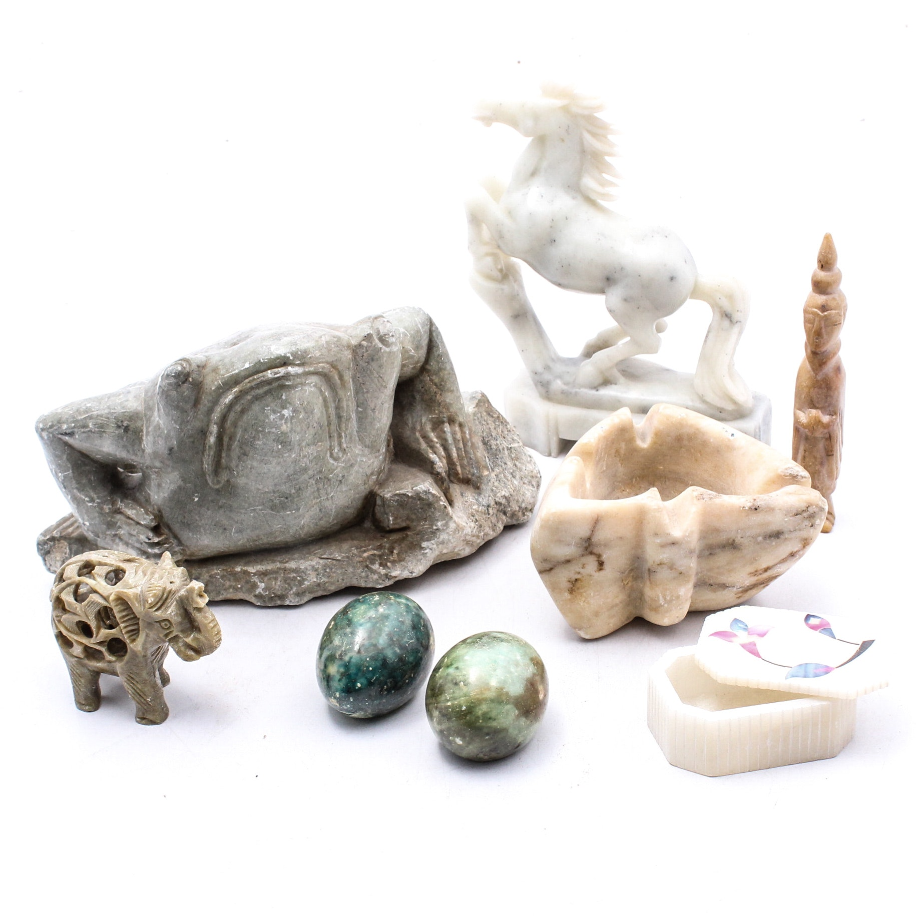 Stone, Alabaster and Marble Figural Sculptures
