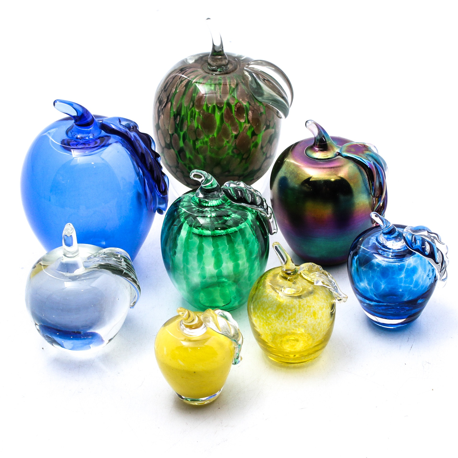 Art Glass Apple Paperweights Featuring Blenko, Gibson and Ron Hinkle Glass