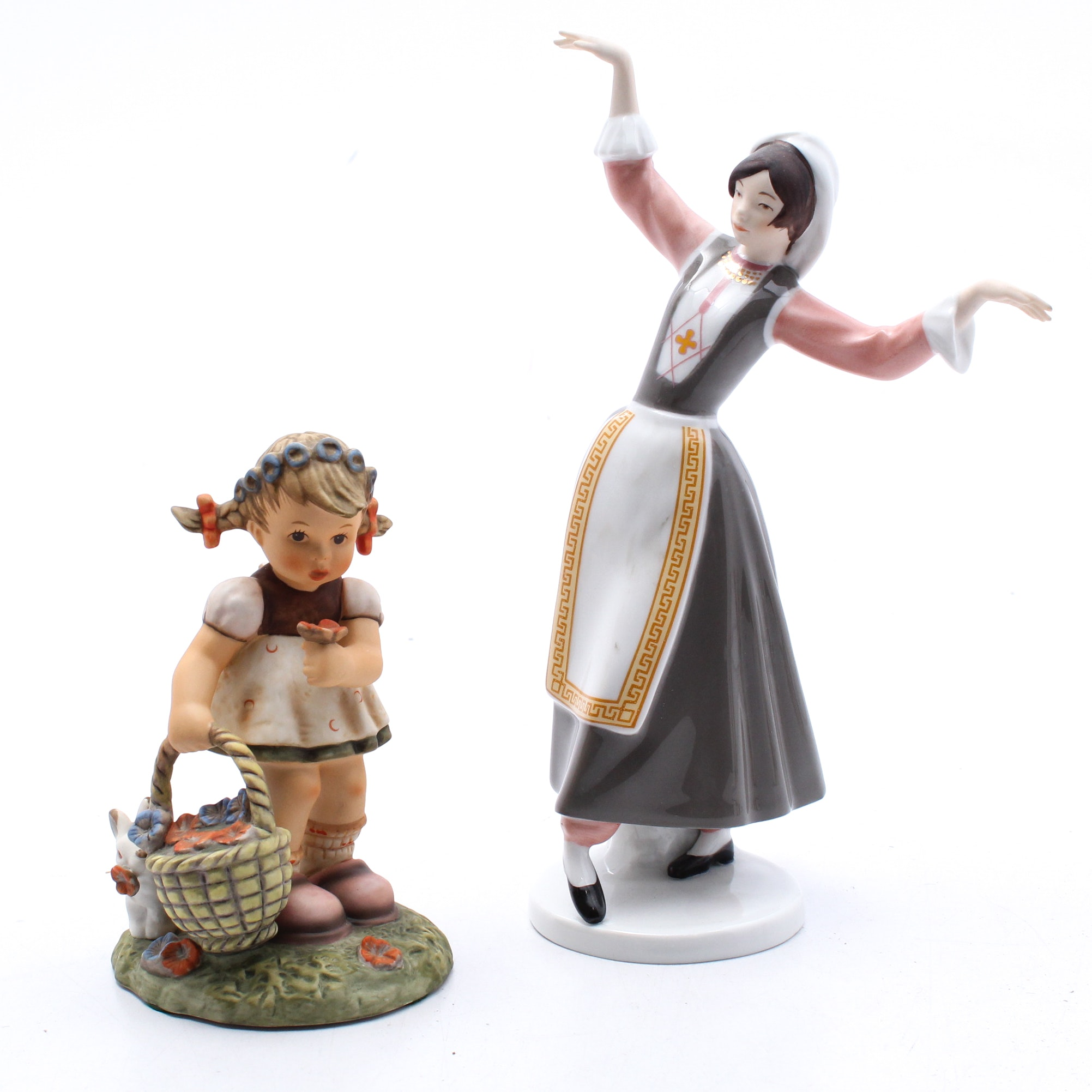 """Goebel Figurines """"Helena"""" and """"Spring Blossoms"""""""
