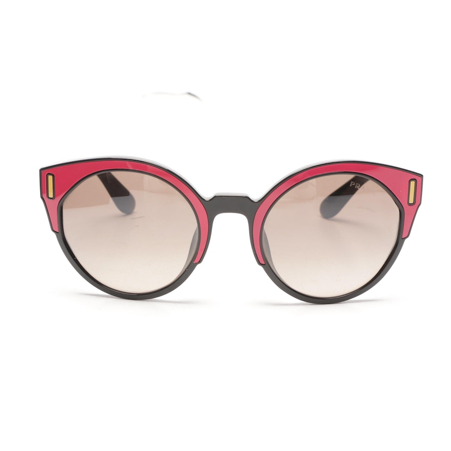 624a2ad340 Prada Colorblock Cat Eye Sunglasses with Case   EBTH