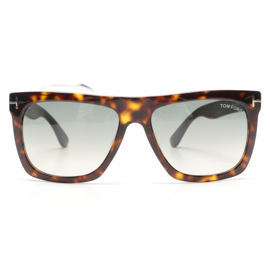 ca83d037886 Tom Ford Morgan Tortoiseshell Style Sunglasses with Case   EBTH