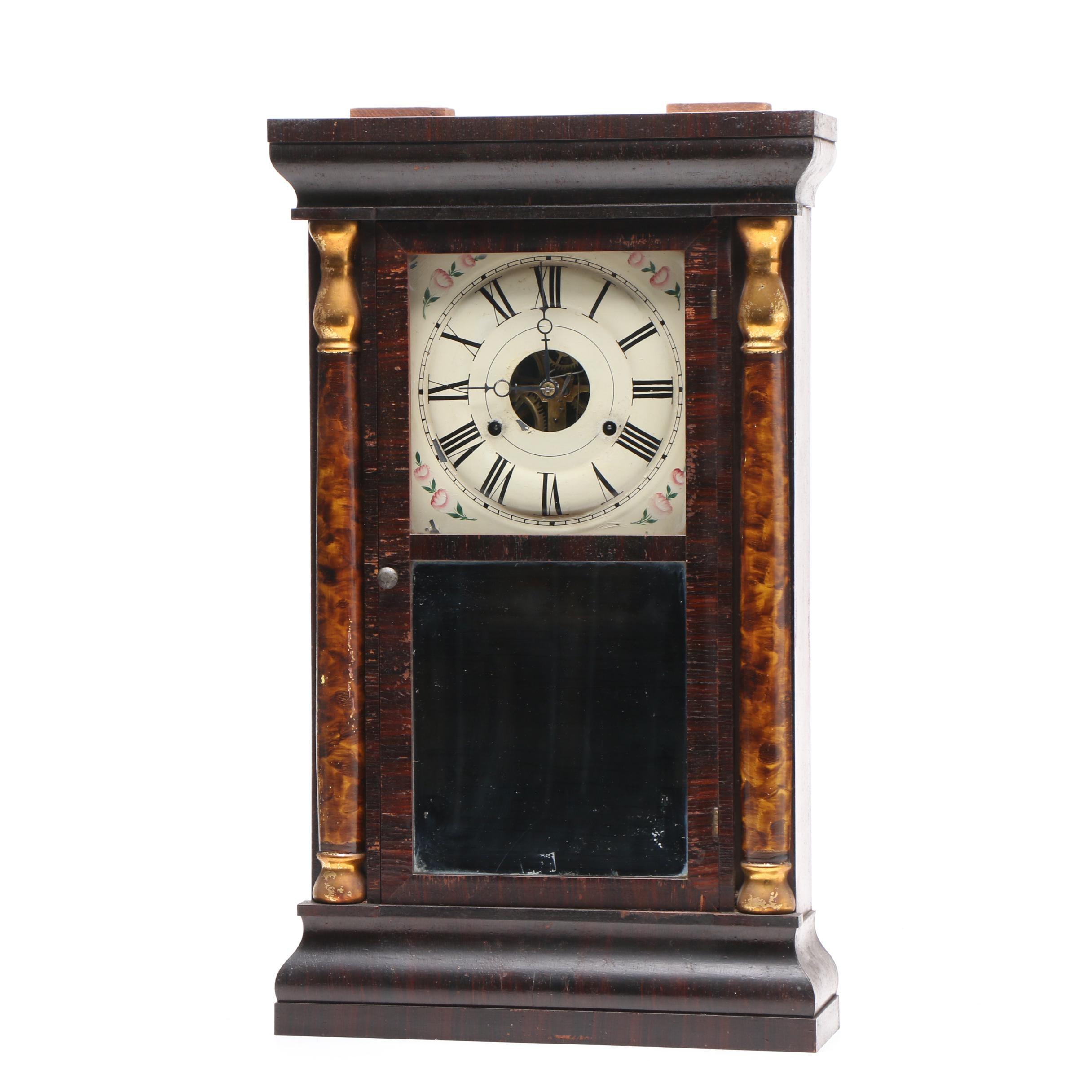 Seth Thomas Ogee Clock with Mahogany Veneer, Early 19th Century
