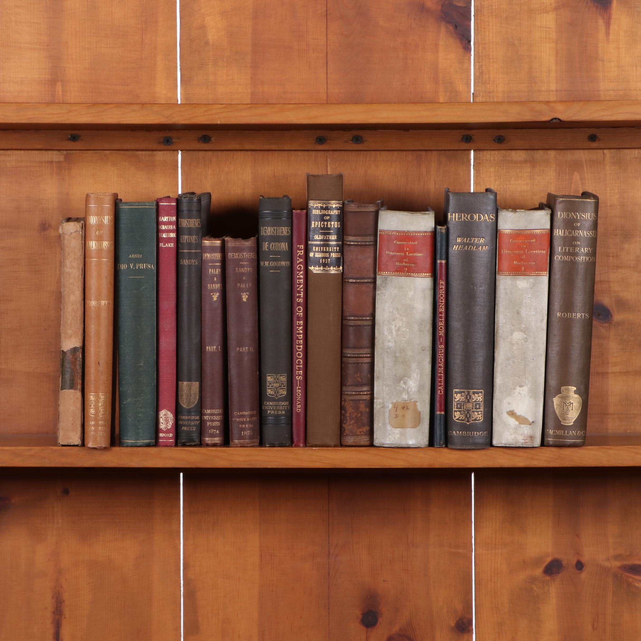Books Relating to Classics and History