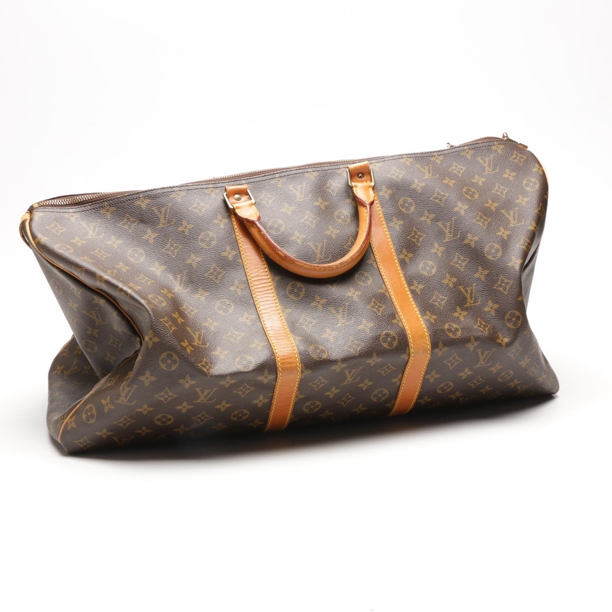 Images For Louis Vuitton Made In France >> 1983 Louis Vuitton Monogram Canvas Keepall 60 Duffel Bag Made In France