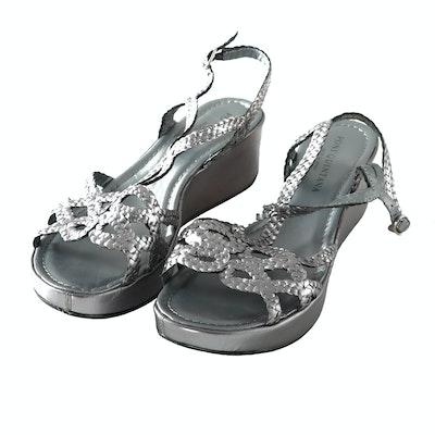 4de6321ebd5b Vintage Gucci Black Leather Ankle Strap Sandals   EBTH