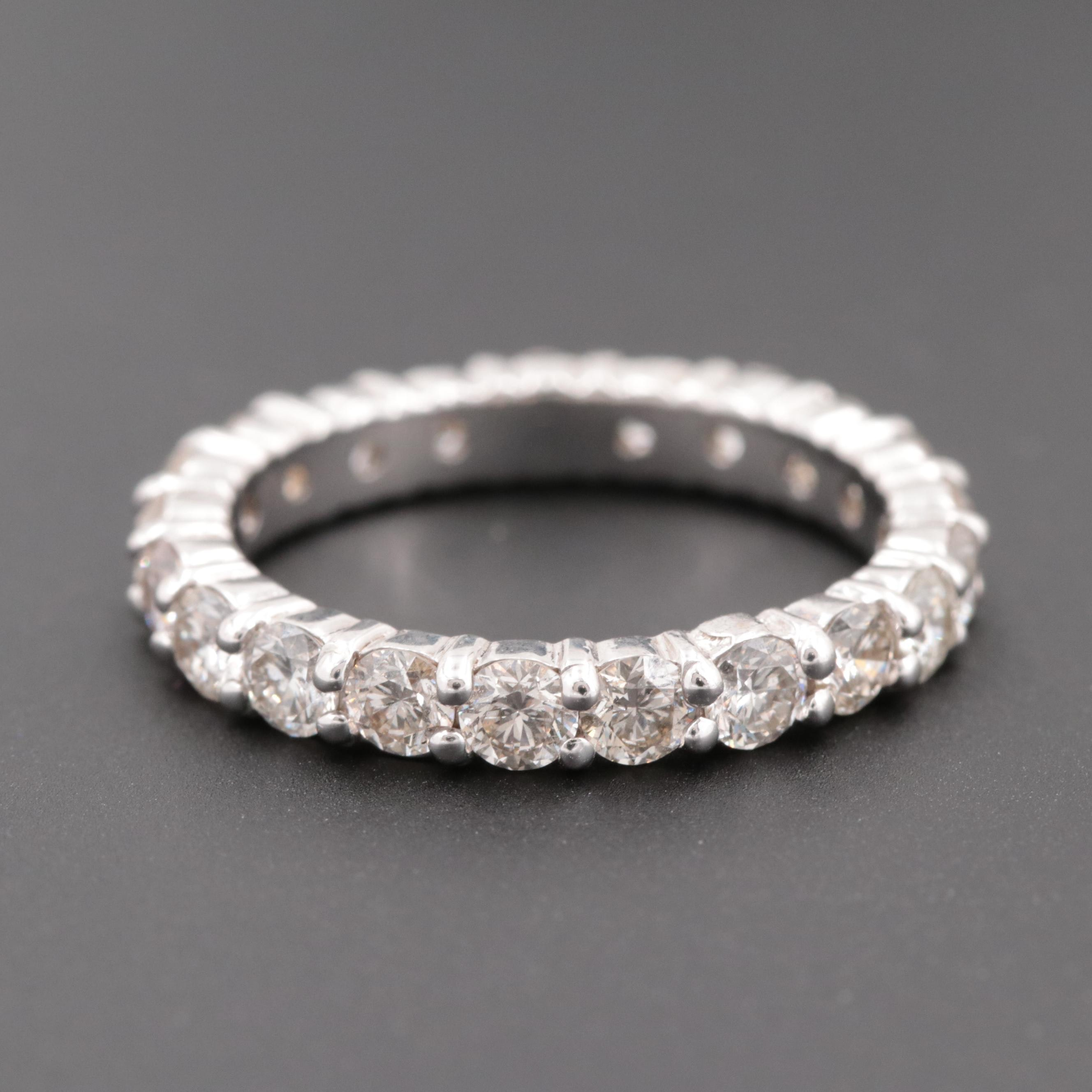 18K White Gold 2.10 CTW Diamond Eternity Ring