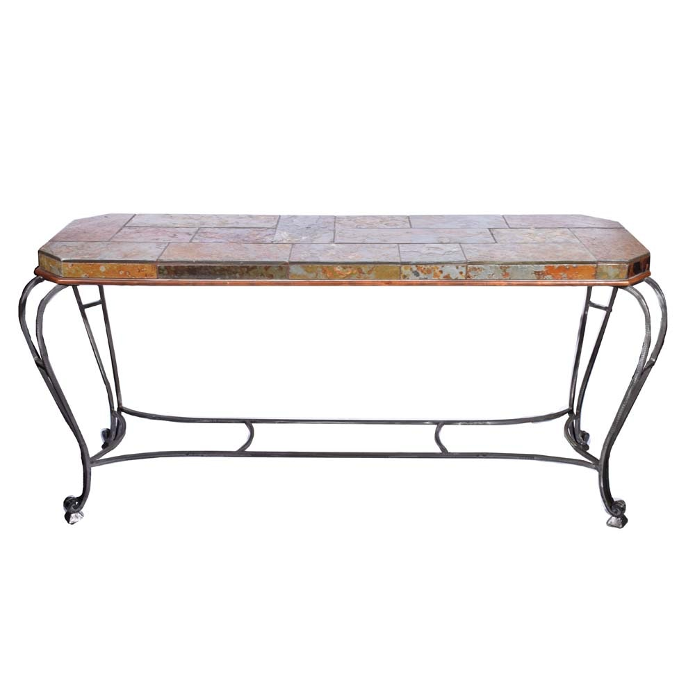 "Iron and Slate ""Avallon"" Sofa Table by Heritage"