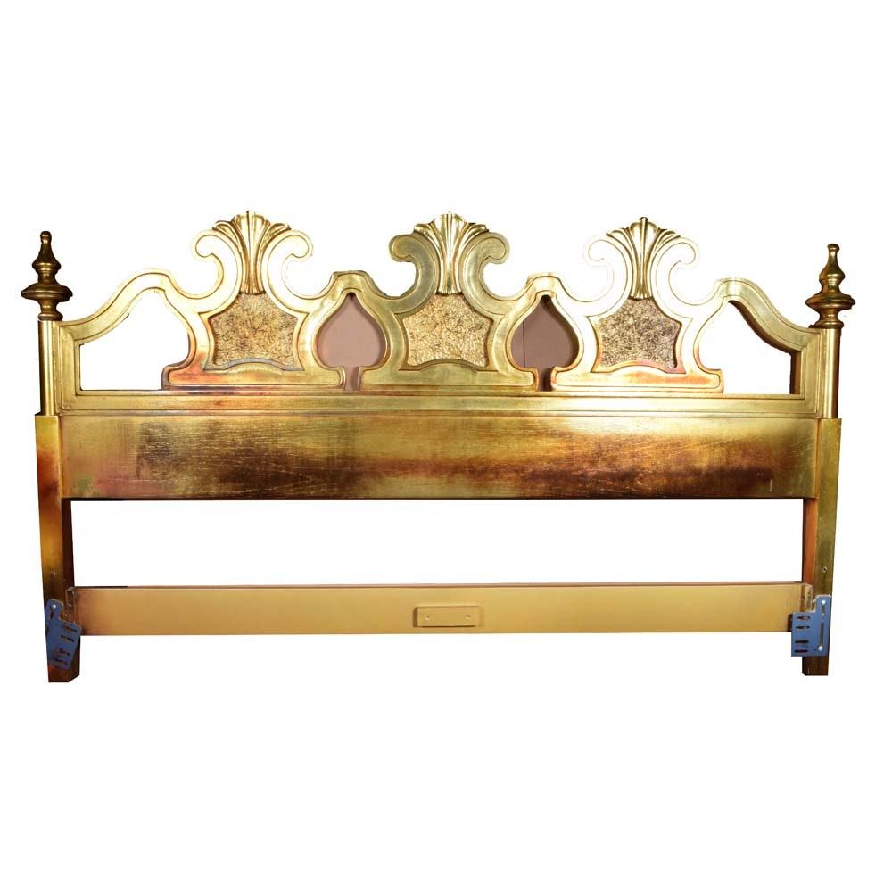 Louis XV Giltwood King Size Headboard, Mid-20th Century