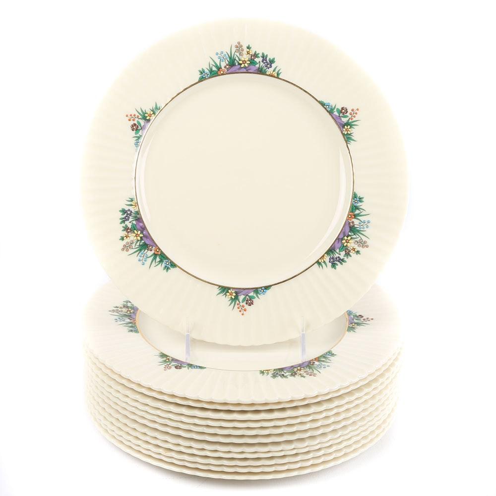 """Lenox """"Rutledge"""" Porcelain Dinner Plates"""