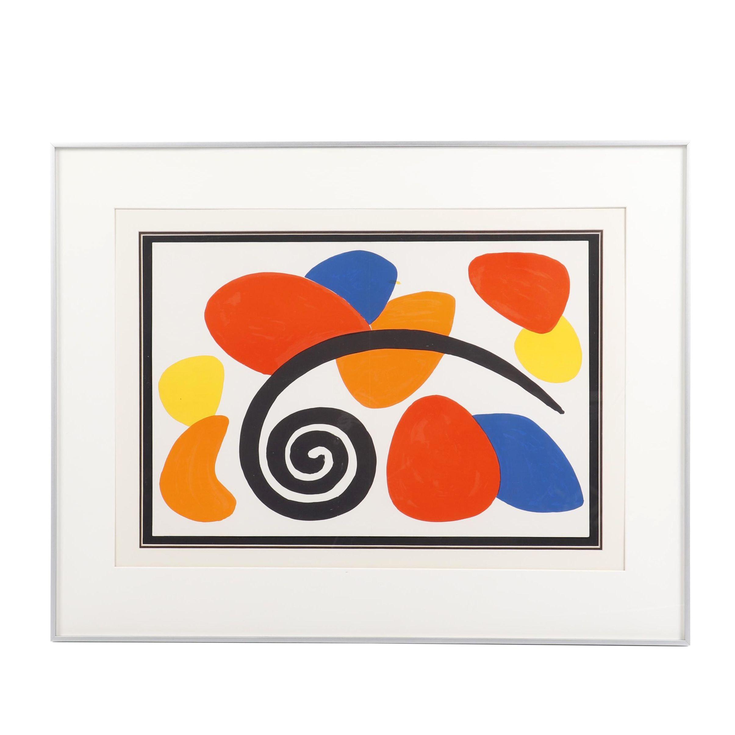 """Alexander Calder Color Lithograph for """"Derrière le Miroir"""""""