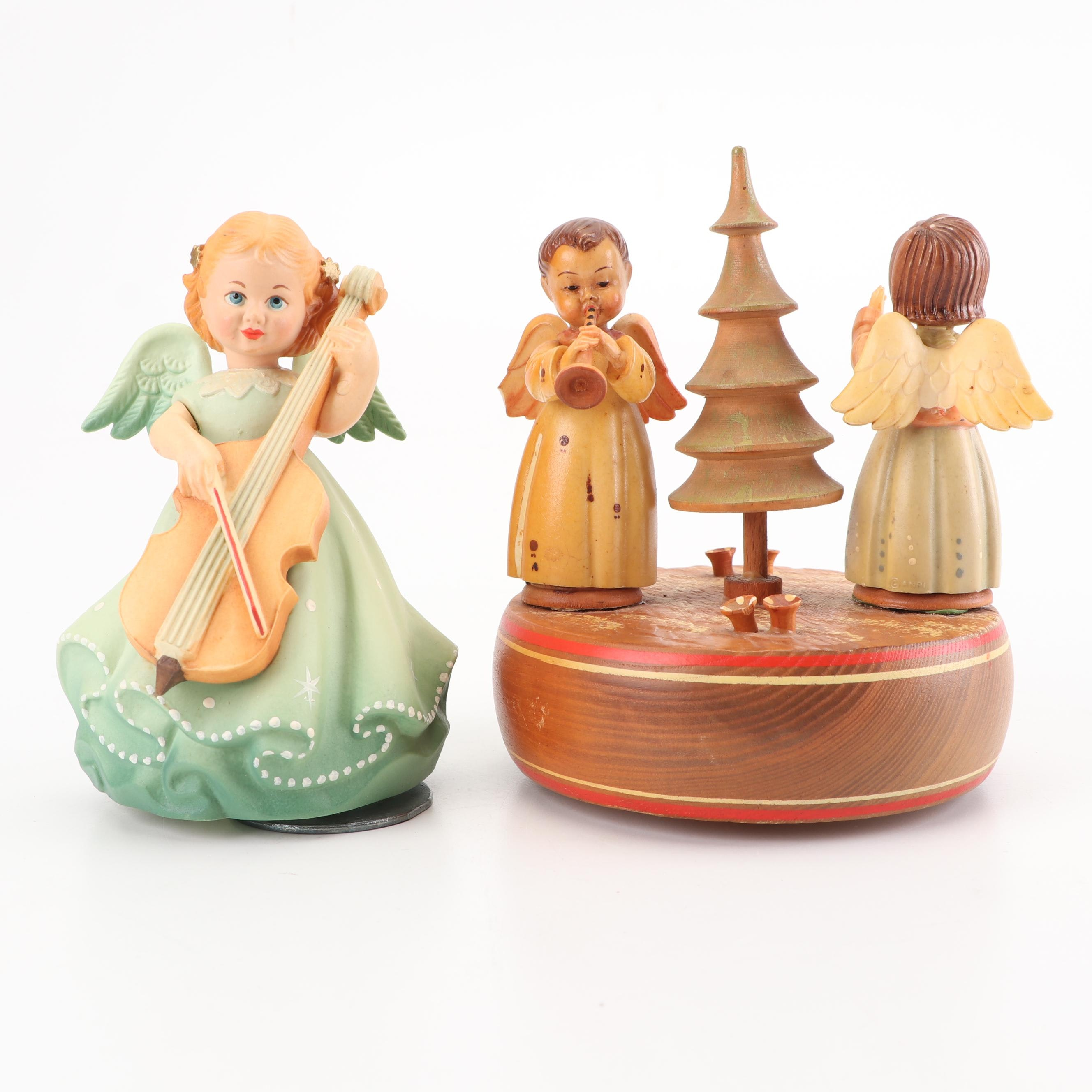 ANRI and Reuge Musical Angel Figurines