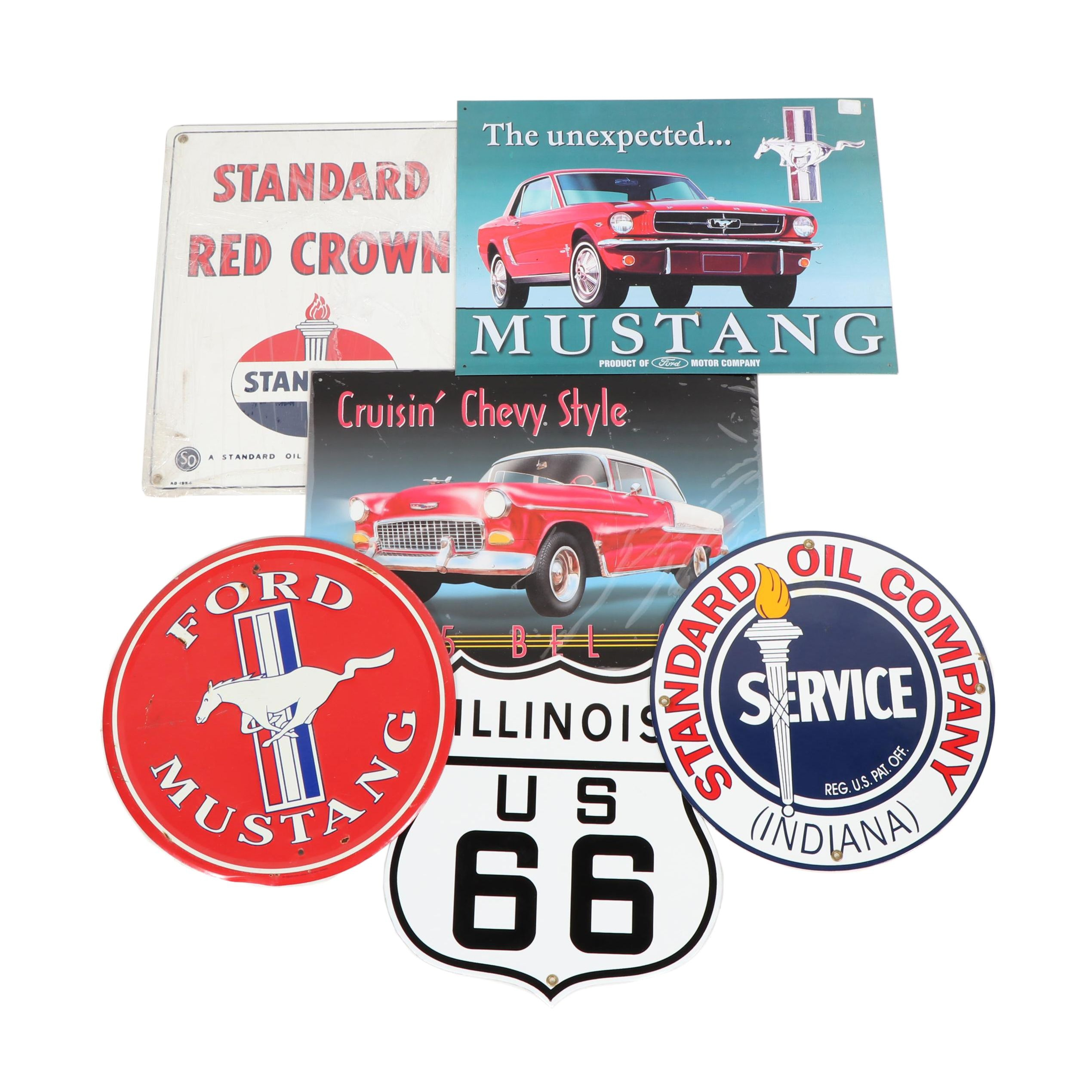 Reproduction Metal Automotive and Advertising Signs
