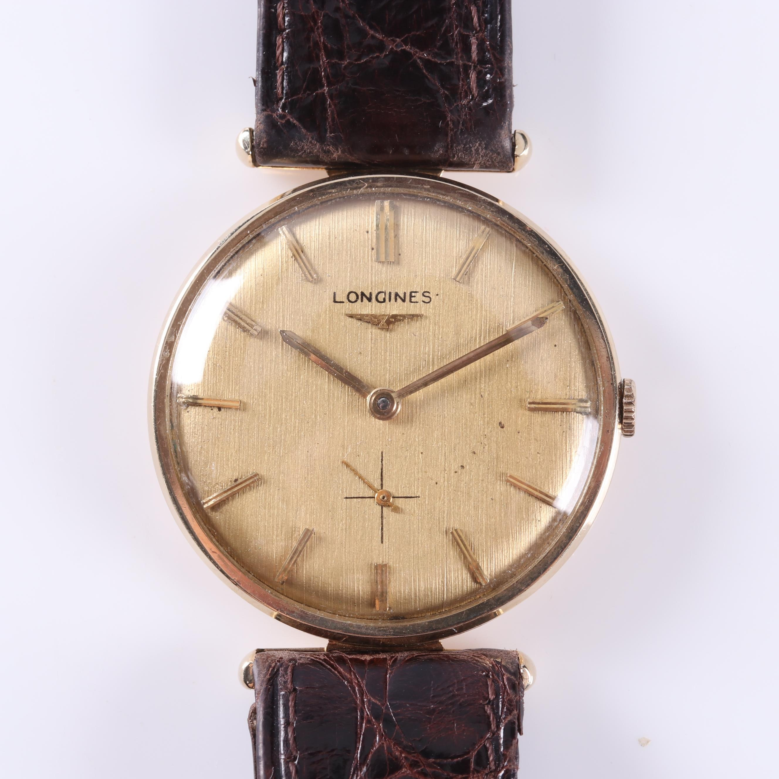 14K Yellow Gold Longines Wrist Watch
