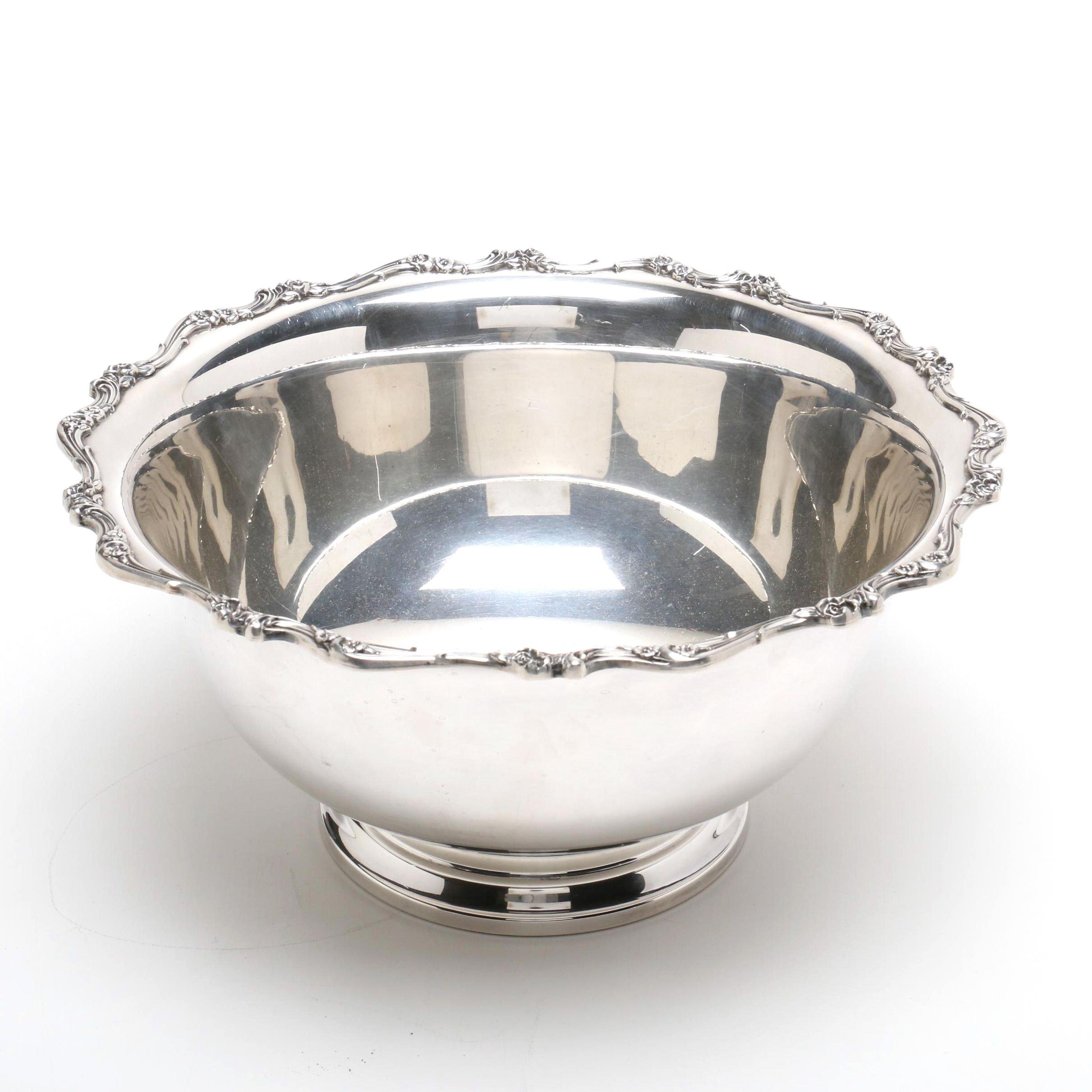 "Wilcox International Silver Plate ""American Rose"" Bowl"