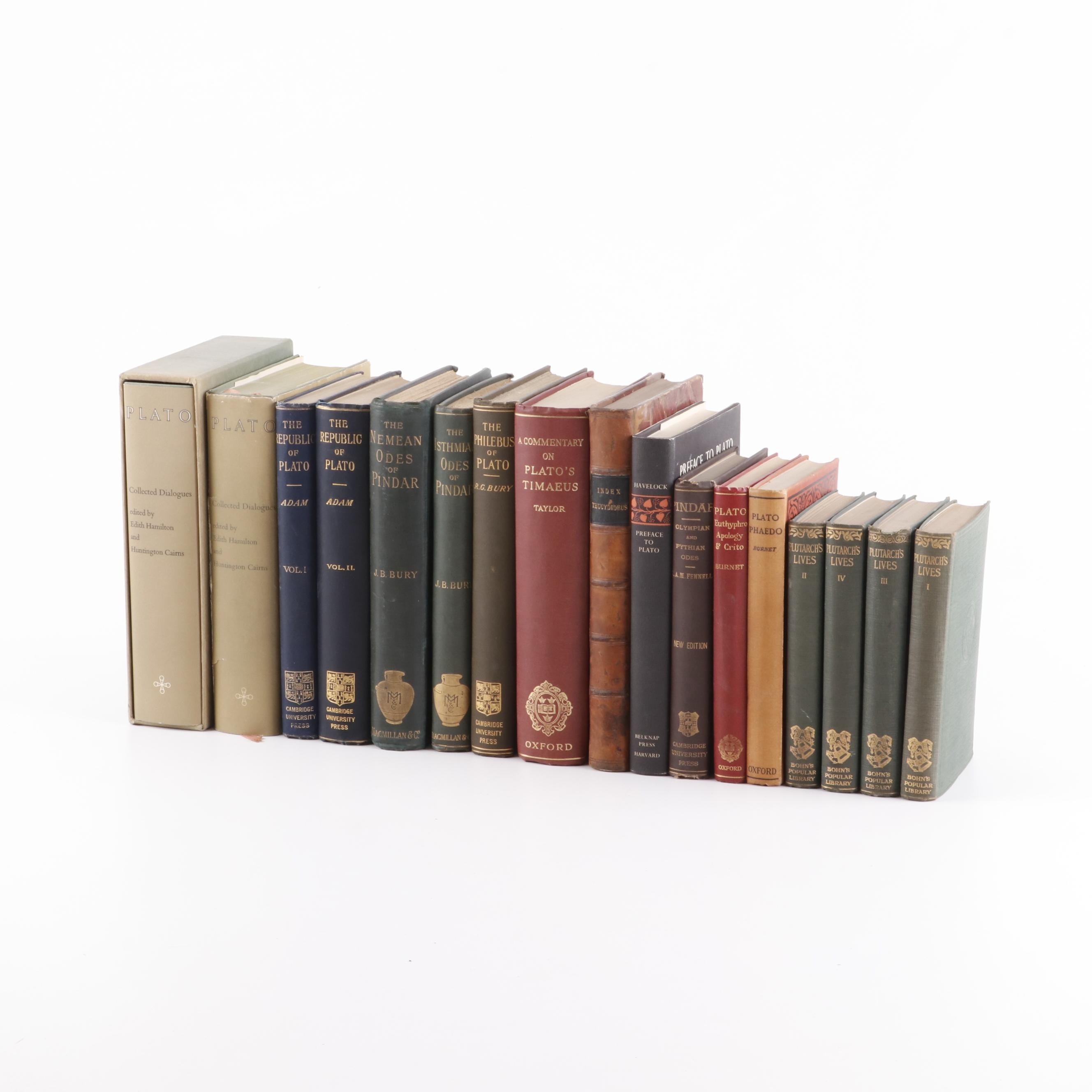 Books Related to Classics and History Featuring Plato and Plutarch