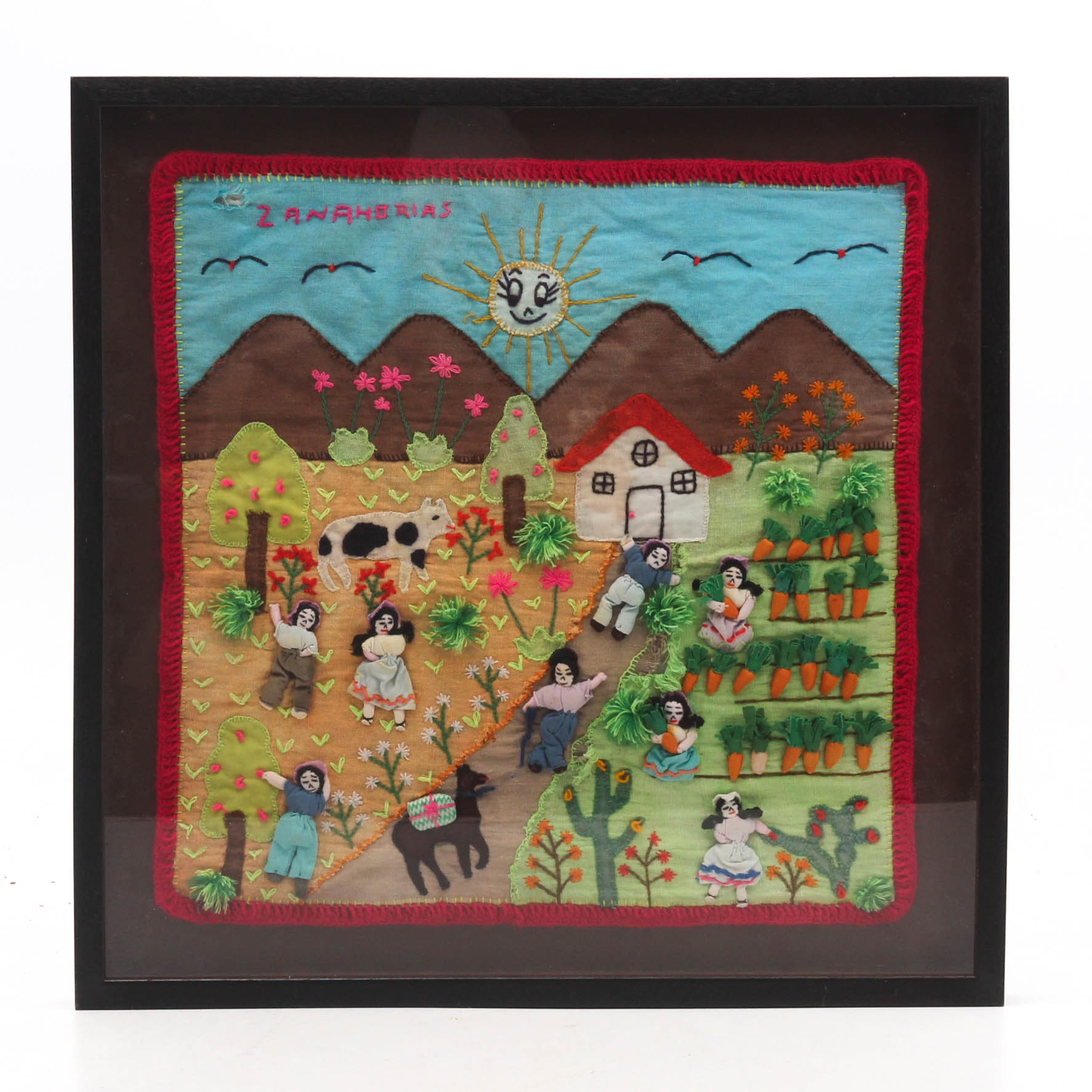 "Central American Fabric Art ""Zanahorias"""