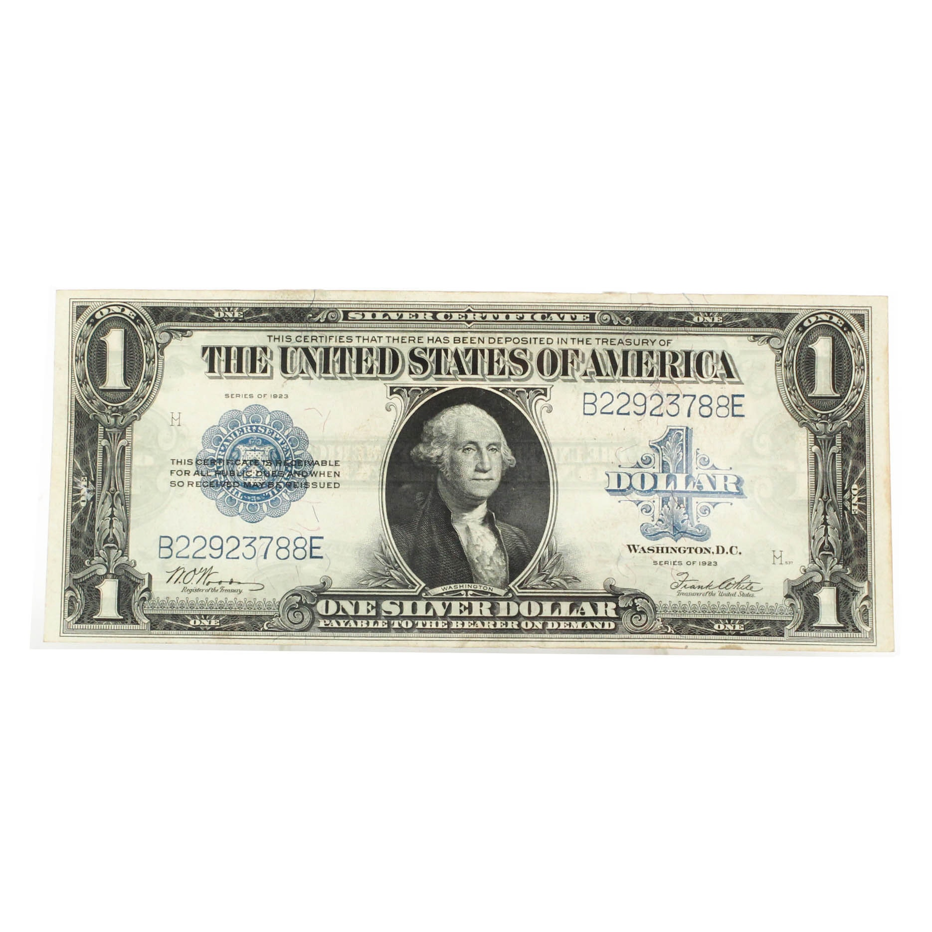 1923 Large 'Horse Blanket' $1 Silver Certificate