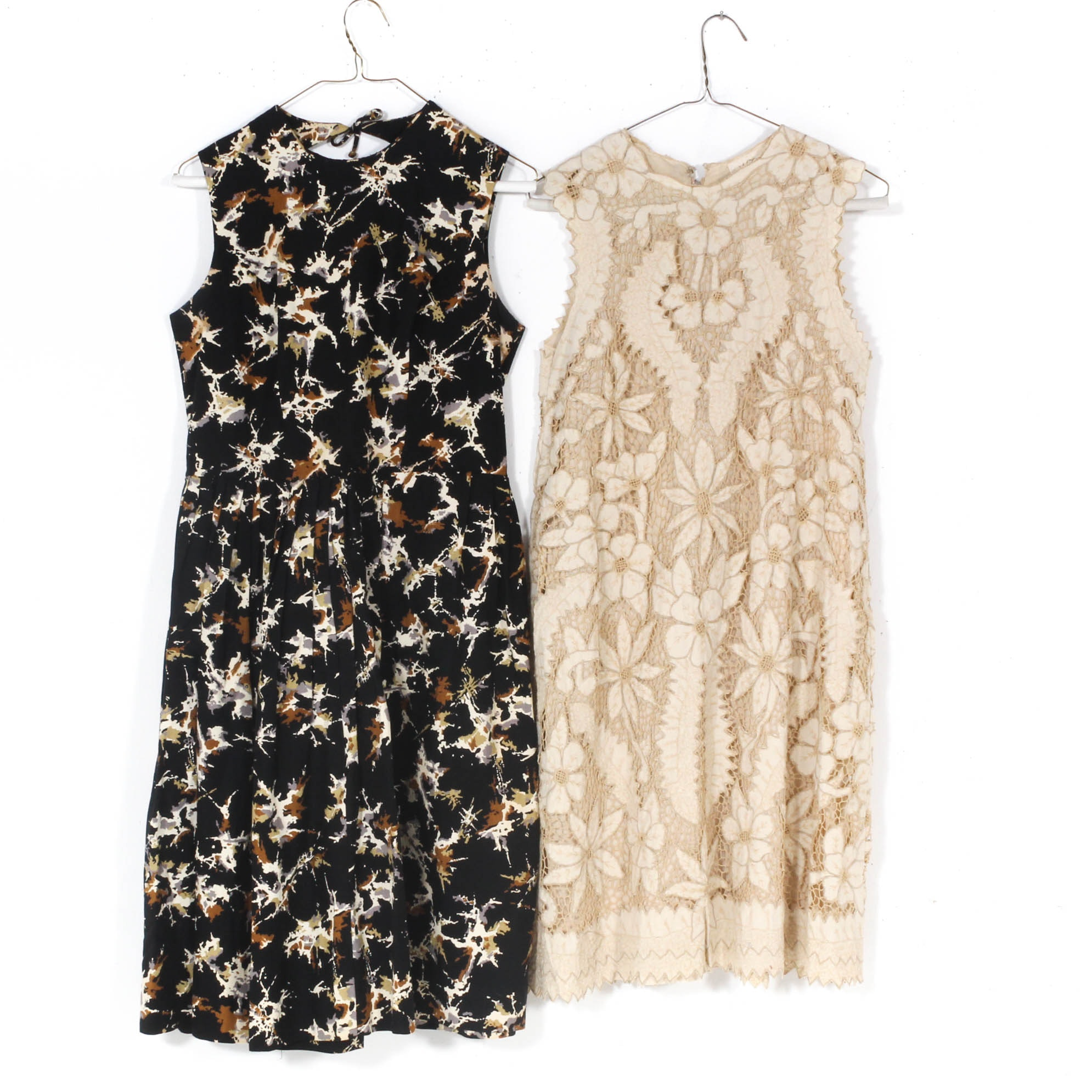 Women's Mid-20th Century Vintage Piqué and Crochet Lace Dresses