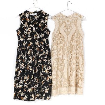 9bb345252981 Women s Mid-20th Century Vintage Piqué and Crochet Lace Dresses