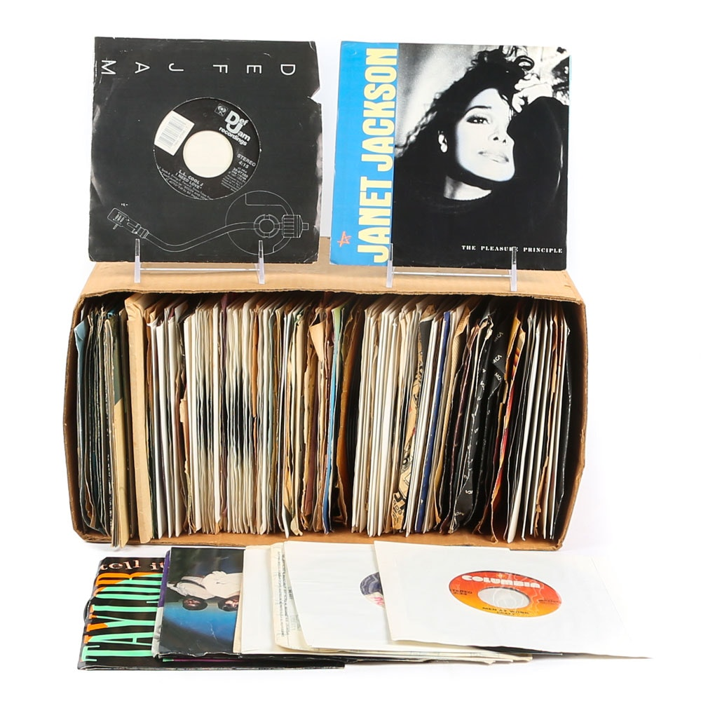 Steve Miller, LL Cool J, Jackson 5 and Other 45 RPM Vinyl Records