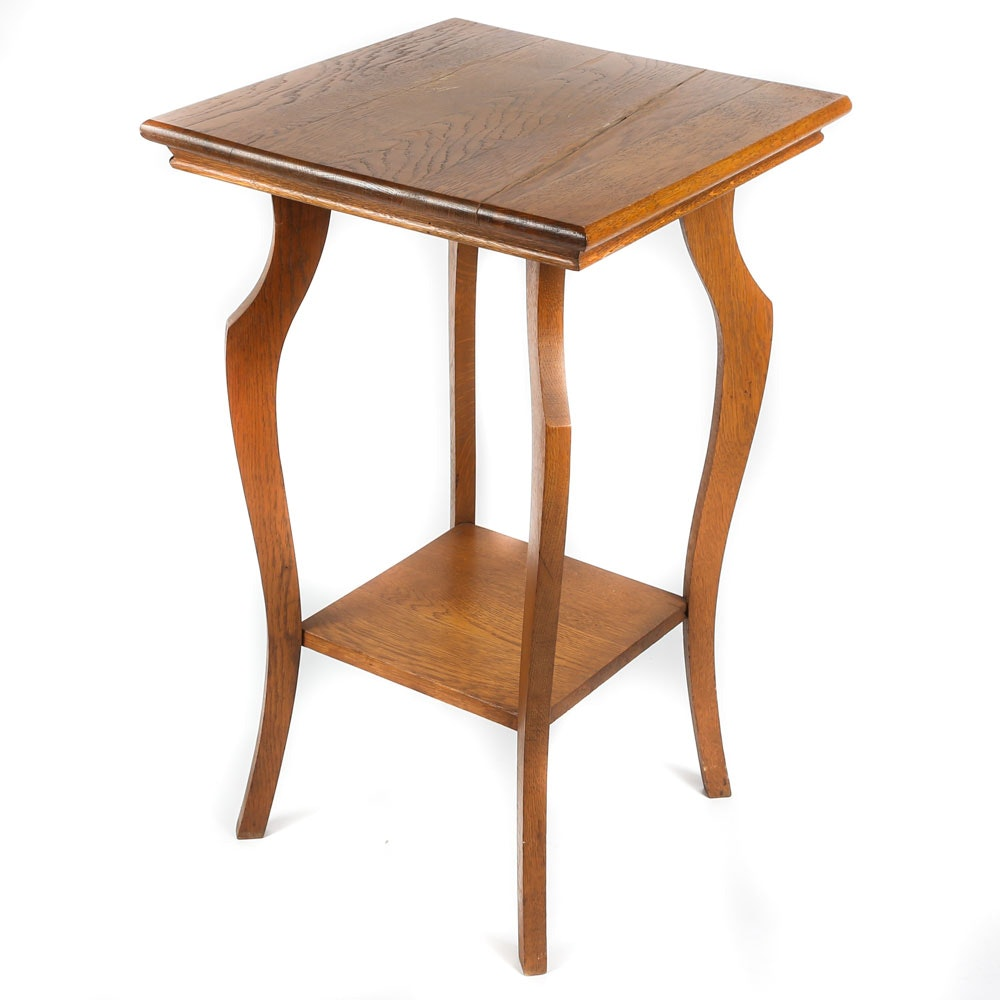 Stained Oak Lamp Table, 20th Century
