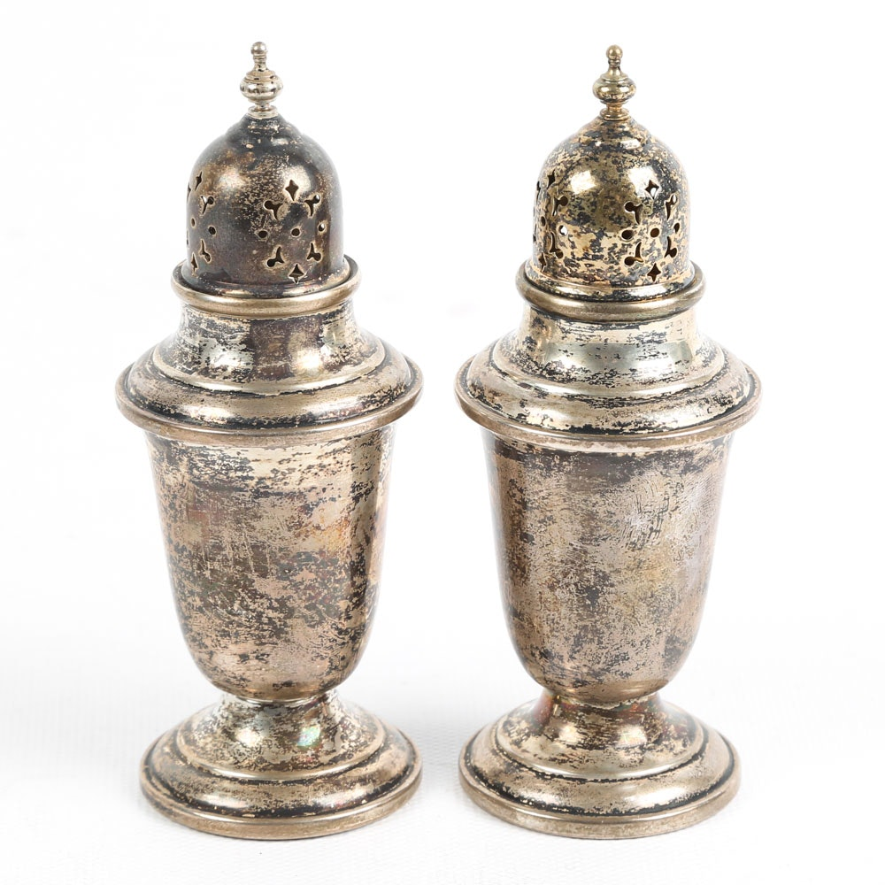 "Gorham ""Puritan"" Sterling Silver Salt and Pepper Shaker Set"