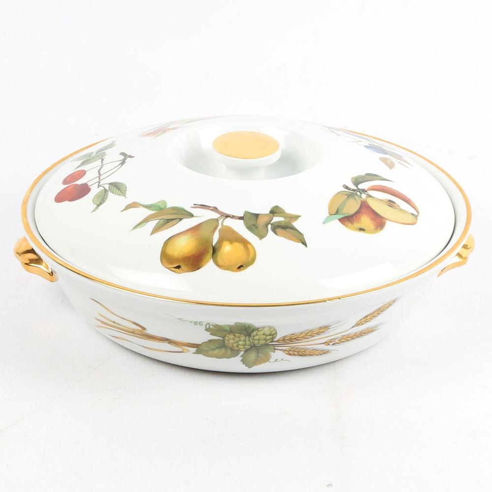 "Royal Worcester ""Evesham"" Lidded Casserole Dish"