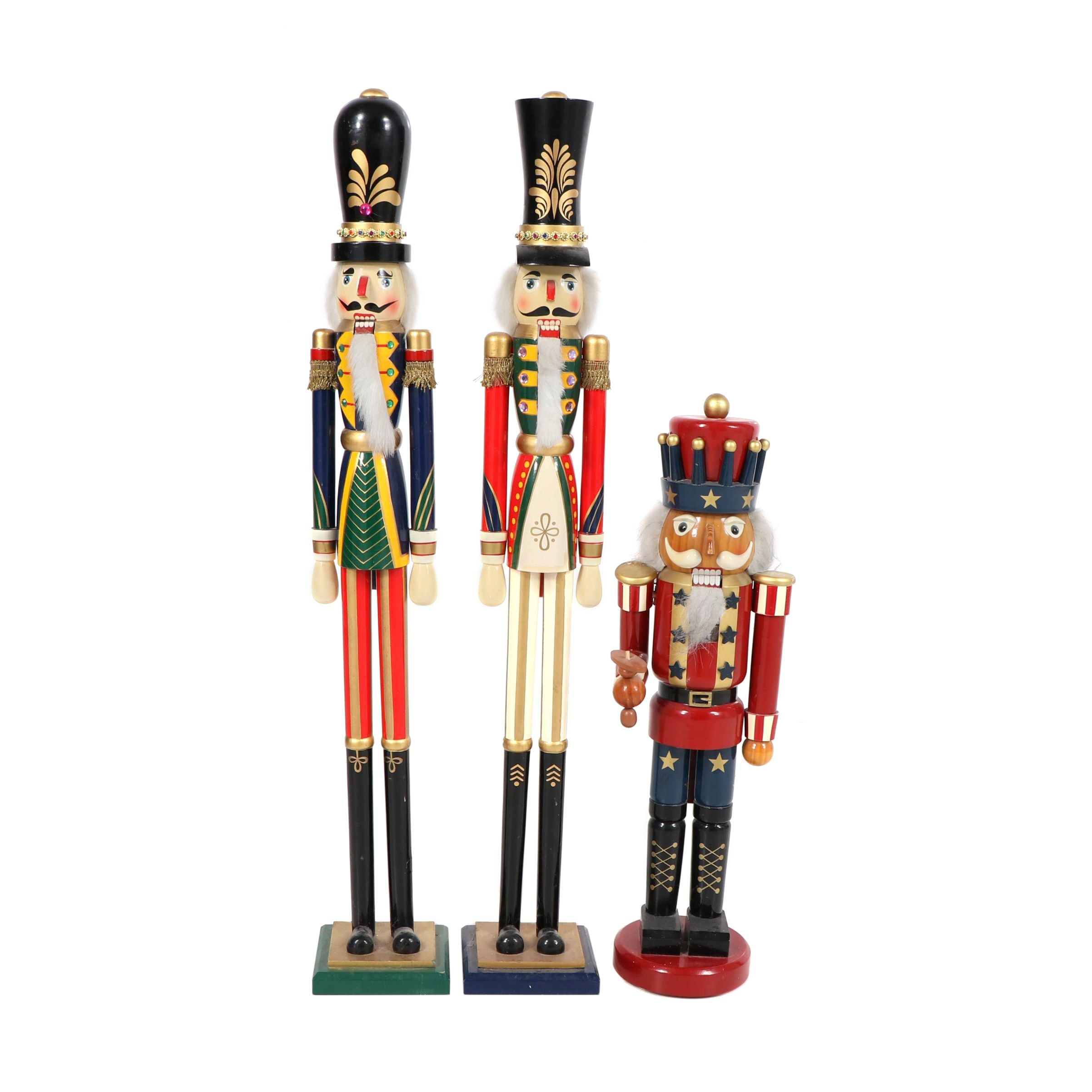 Painted Wood Nutcrackers