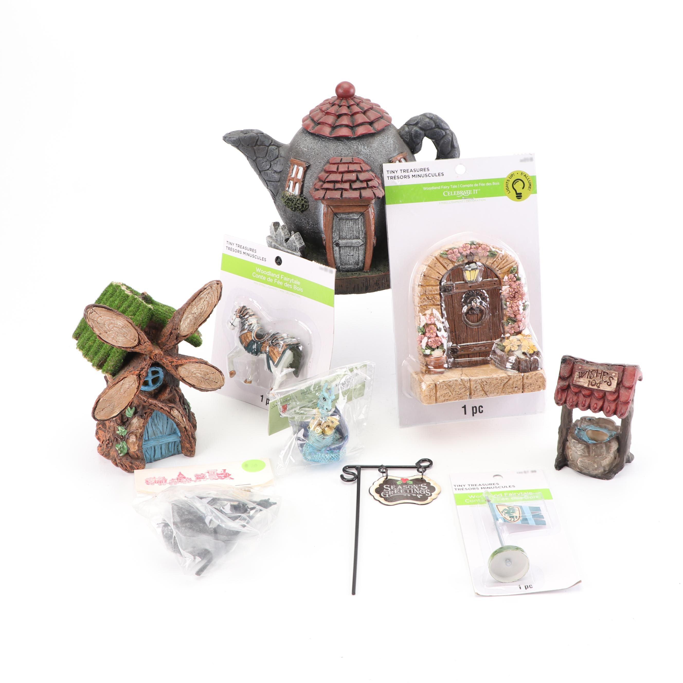 """Tiny Treasures """"Woodland Fairy Tale"""" Figurines, 21st Century"""