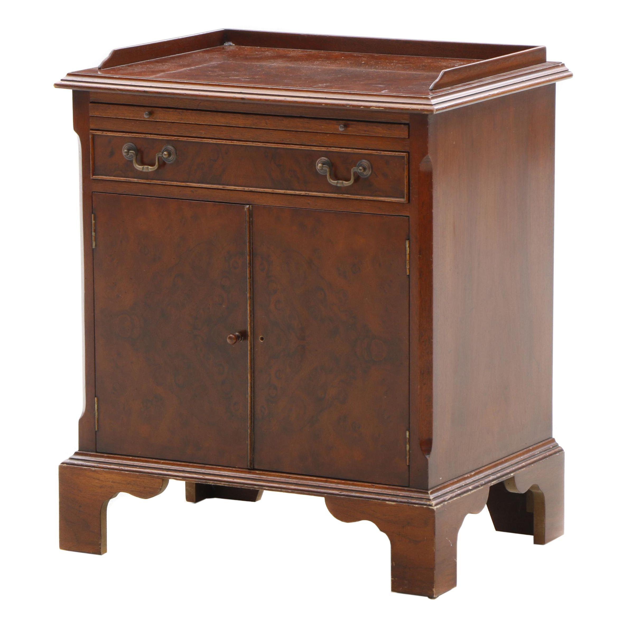 Burlwood Veneer Batchelor's Cabinet