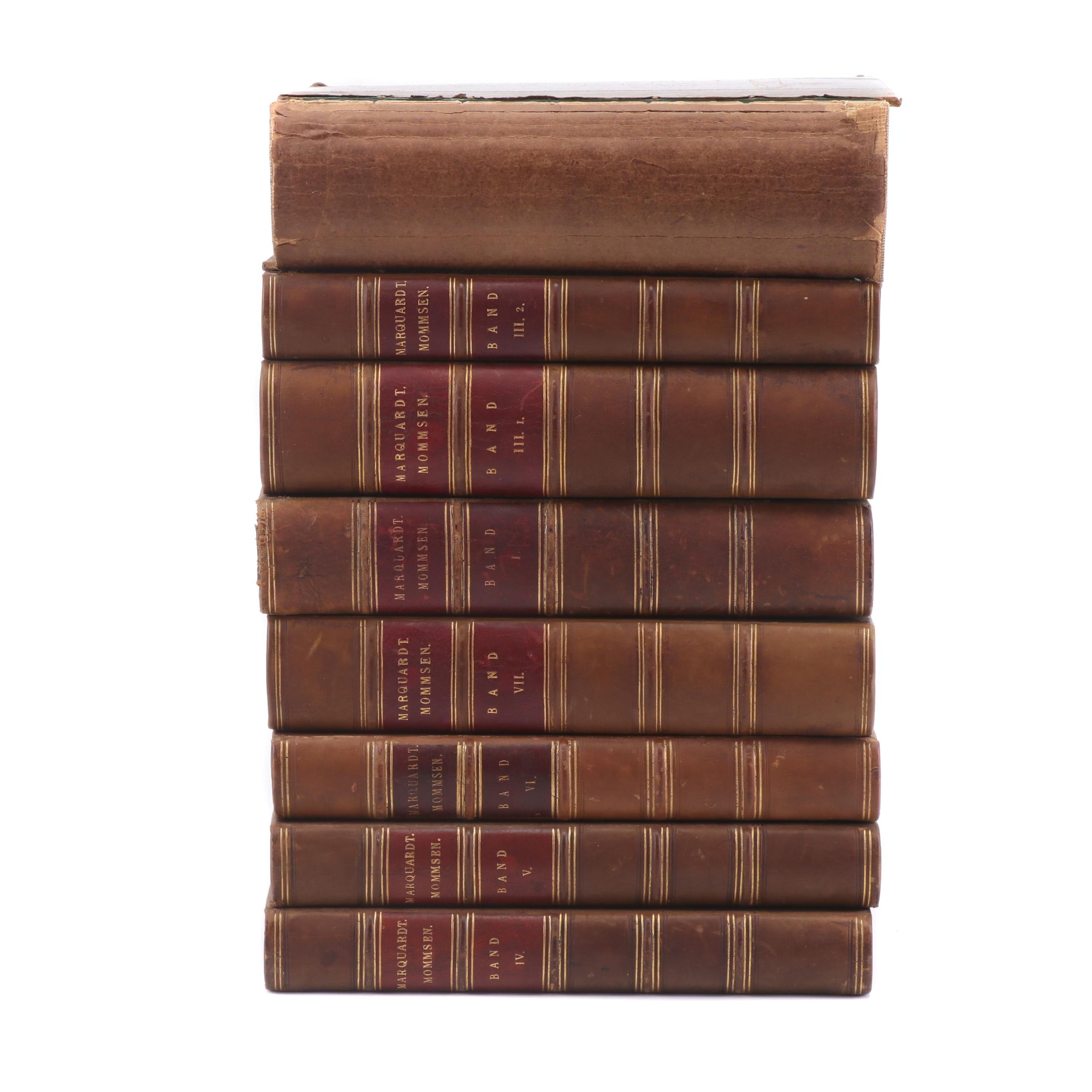 German Language Books on Roman Law and Culture, Late 19th Century