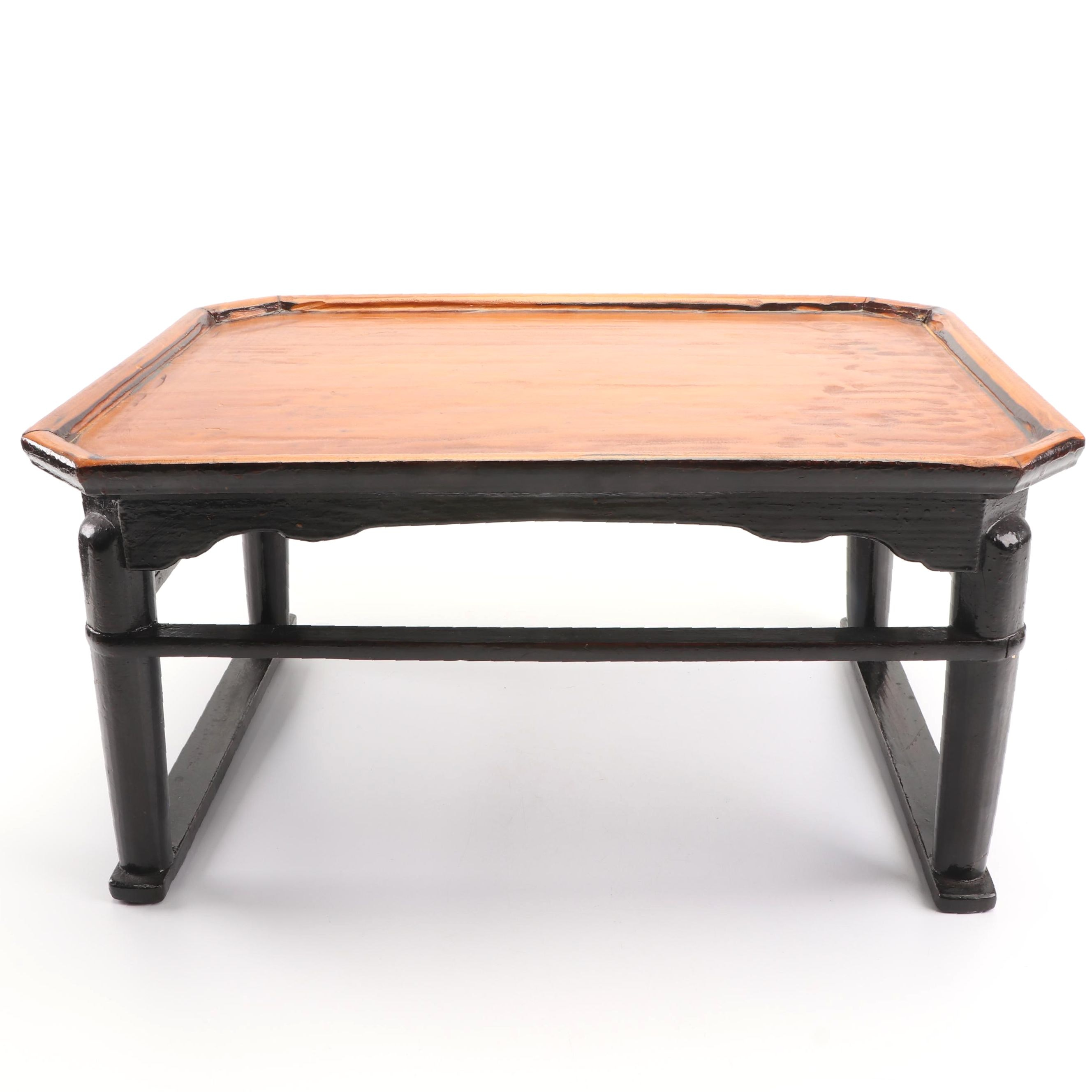 Antique Japanese Wooden Tea Tray