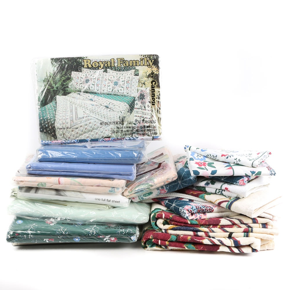 Bath Towels and Sheets Including Cannon