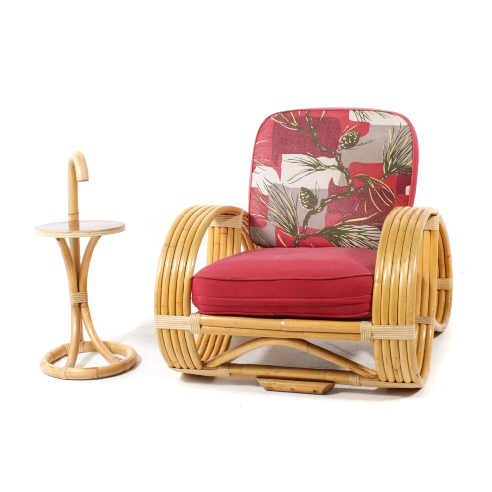 Bradston Rattan Armchair and Side Table