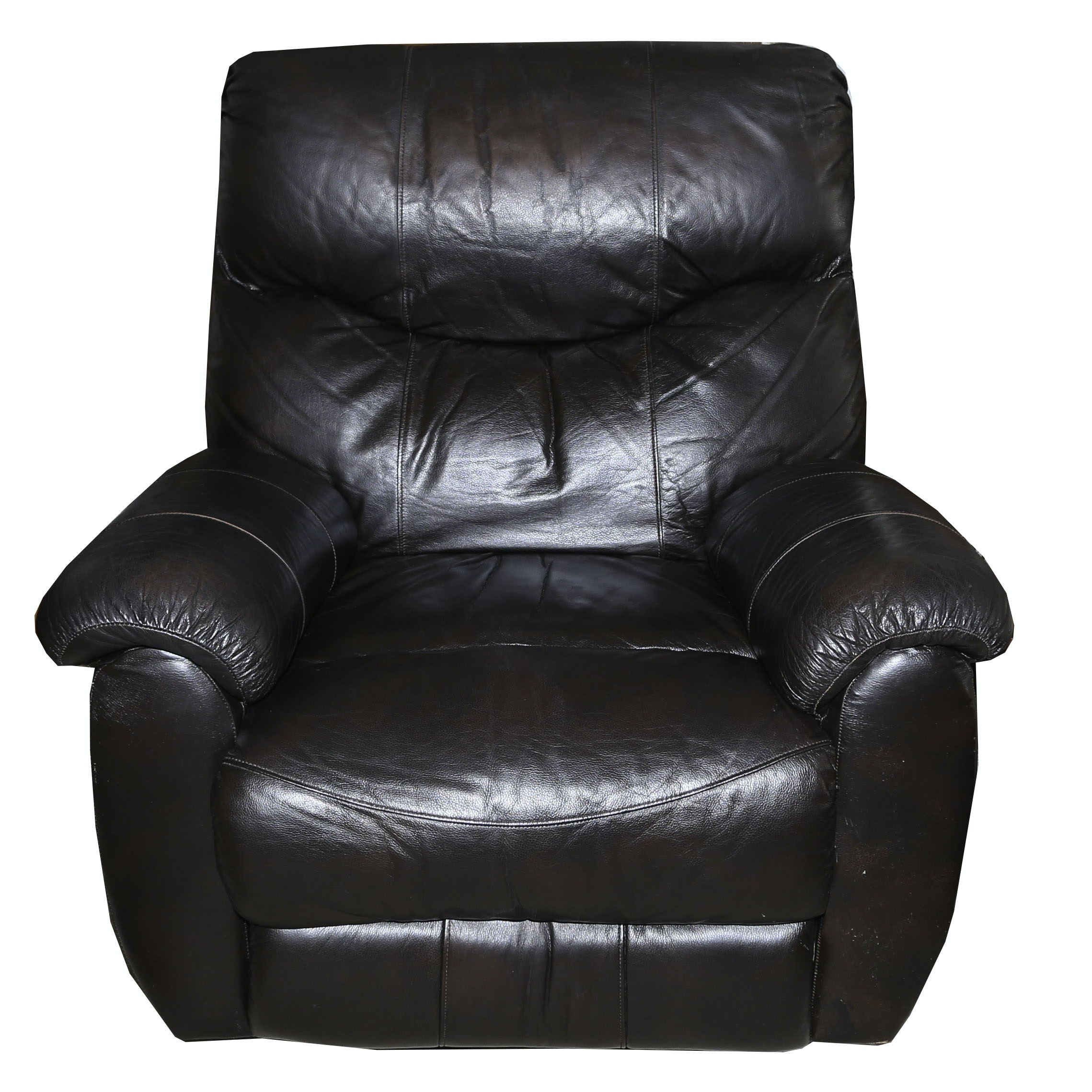 Leather Upholstered Recliner, 21st Century