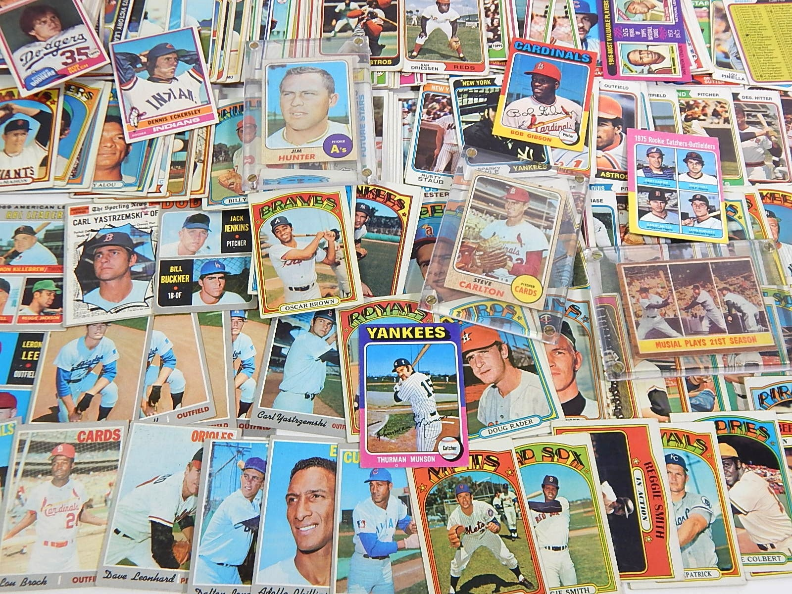 1960s to 1981 Topps Baseball Card Collection with Carlton, Eckersley Rookie