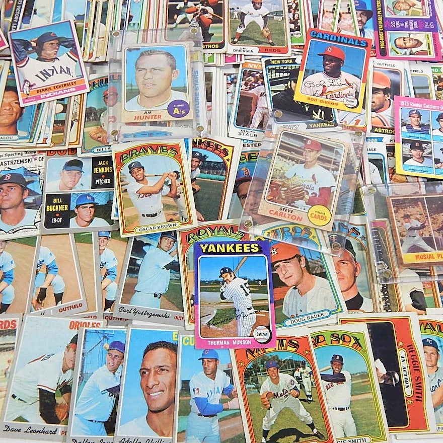 1960s To 1981 Topps Baseball Card Collection With Carlton Eckersley Rookie