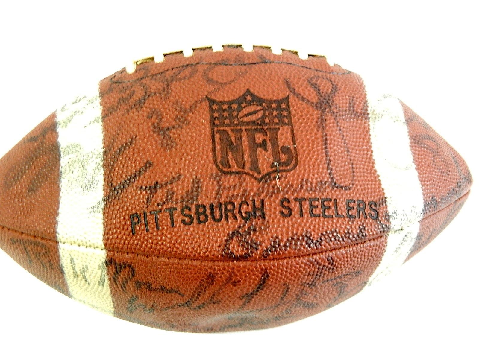 1970s Era Pittsburgh Steelers Signed Football - Bradshaw, Swann, Webster