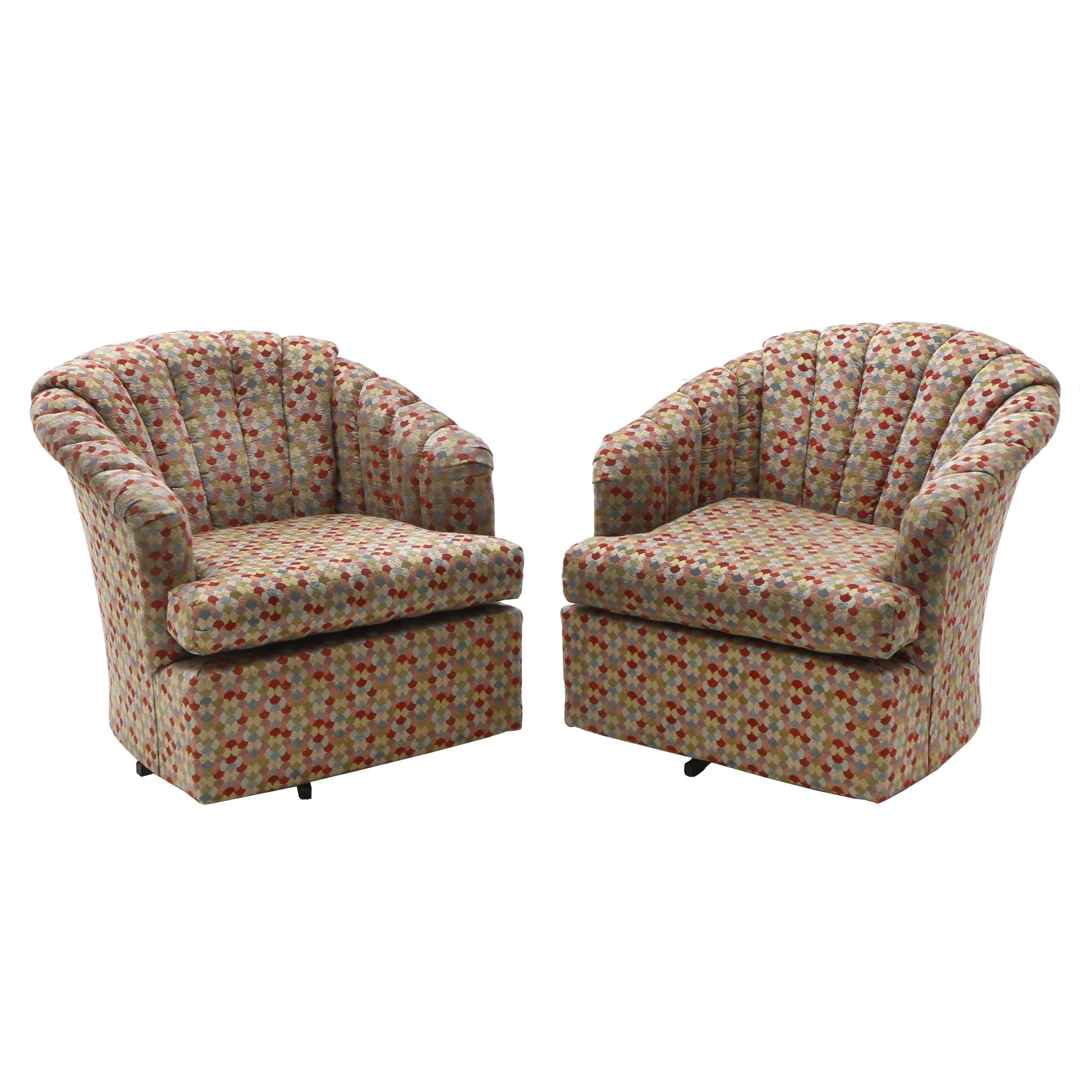 Best Chairs Inc. Channel Tufted Club Chairs