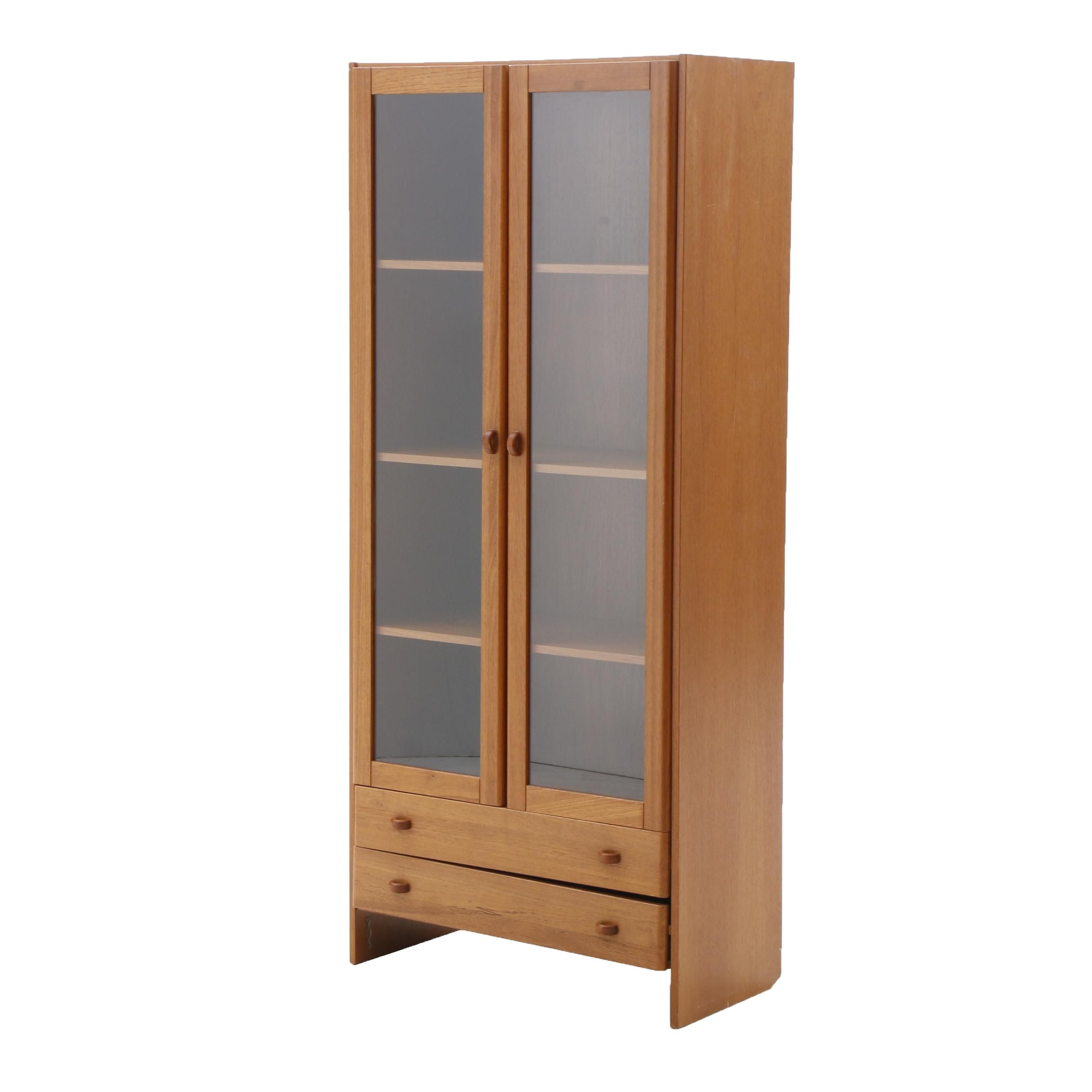 Danish Modern Cabinet Bookcase in Teak by Domino Mobler
