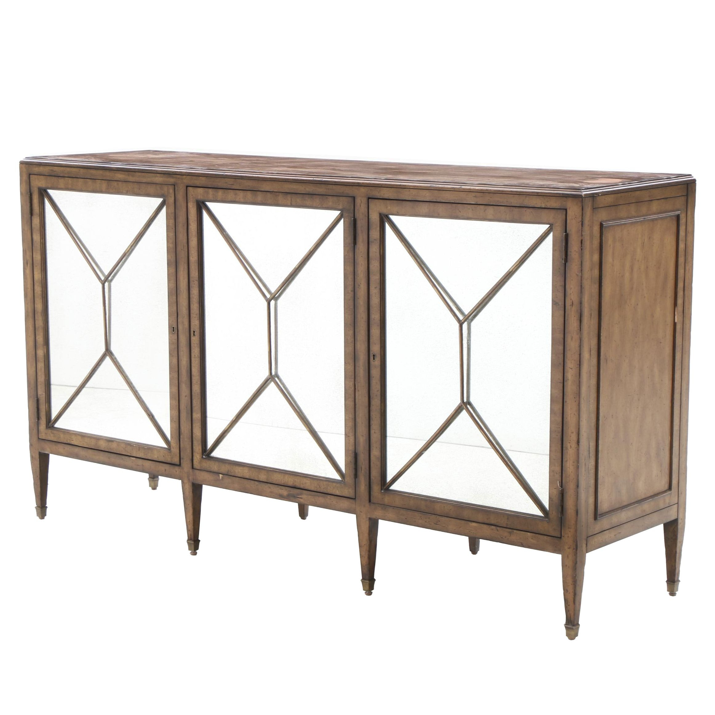 Contemporary Modern Cabinet with Neoclassical Detailing