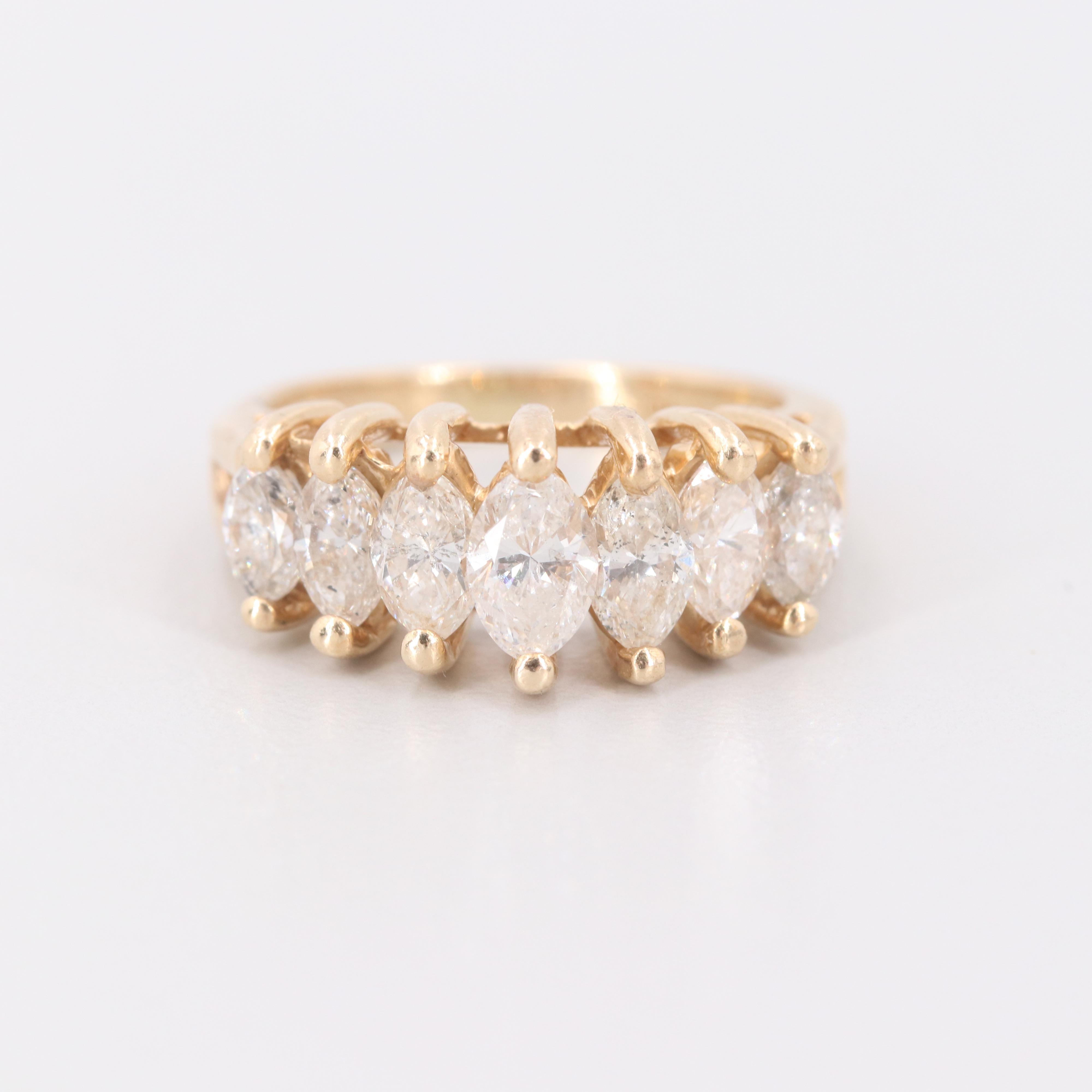 14K Yellow Gold 2.03 CTW Diamond Ring