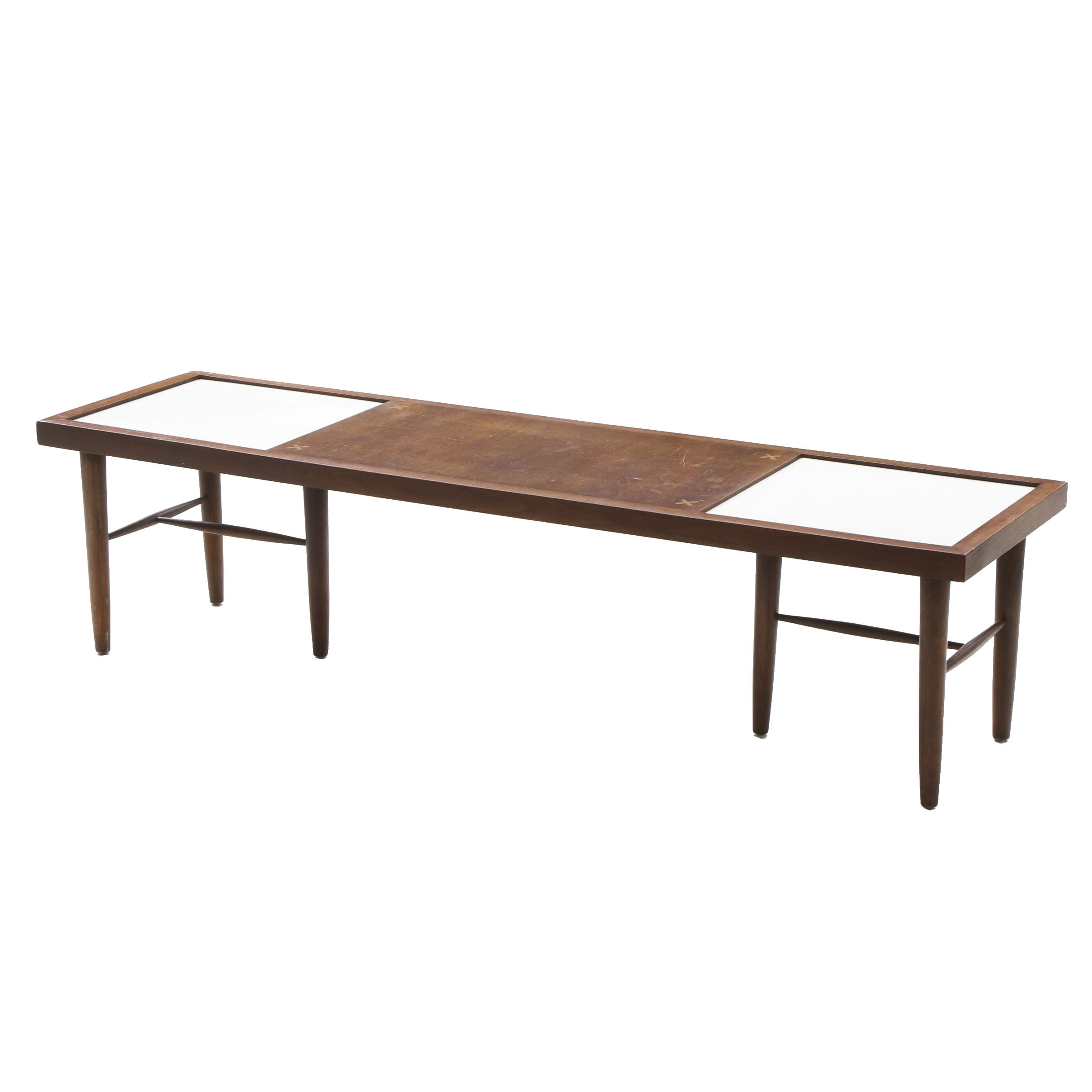 American of Martinsville Mid-Century Modern Coffee Table with Tile
