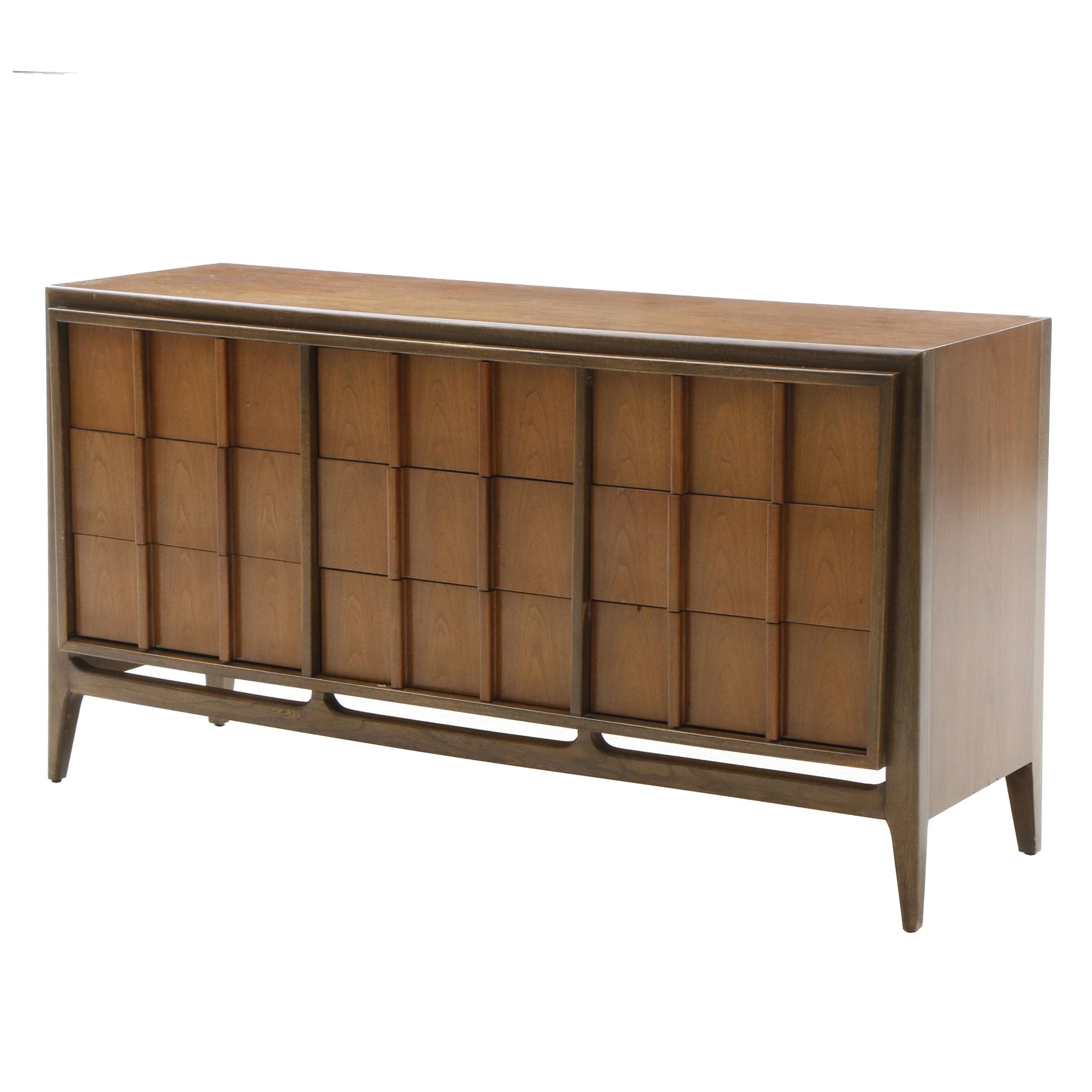 Mid-Century Modern Walnut Chest of Drawers by Sieling Furniture