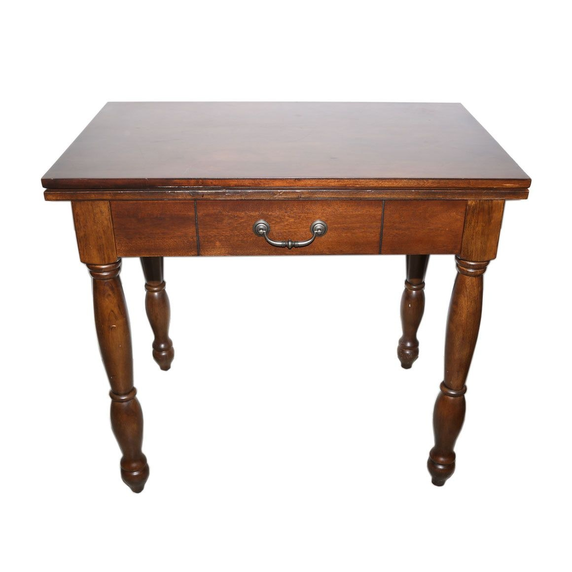 Federal Style Cherrywood Flip-Top Game Table, Late 20th Century
