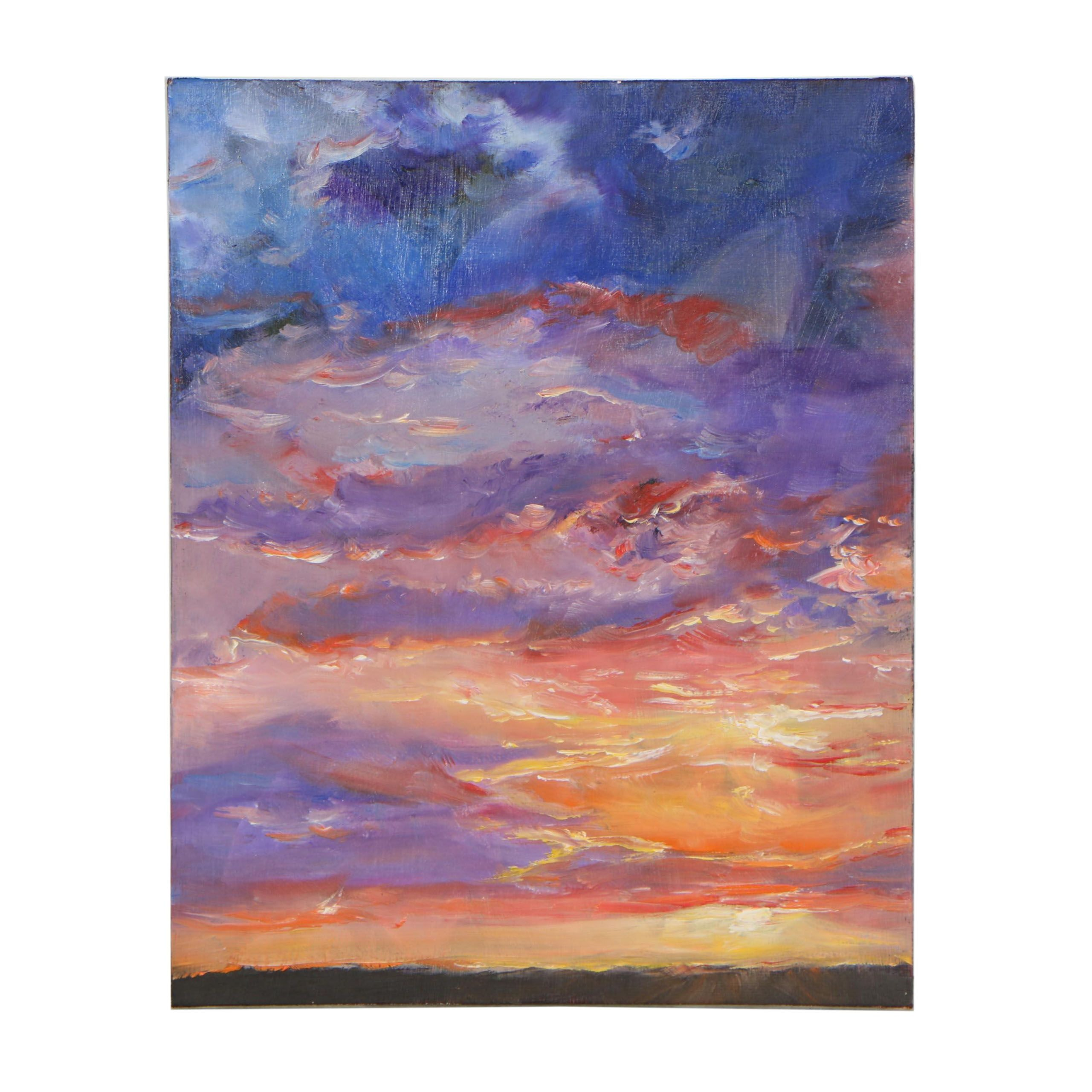"""Olga L. Schelp Oil Painting """"Colors of Sunset"""""""