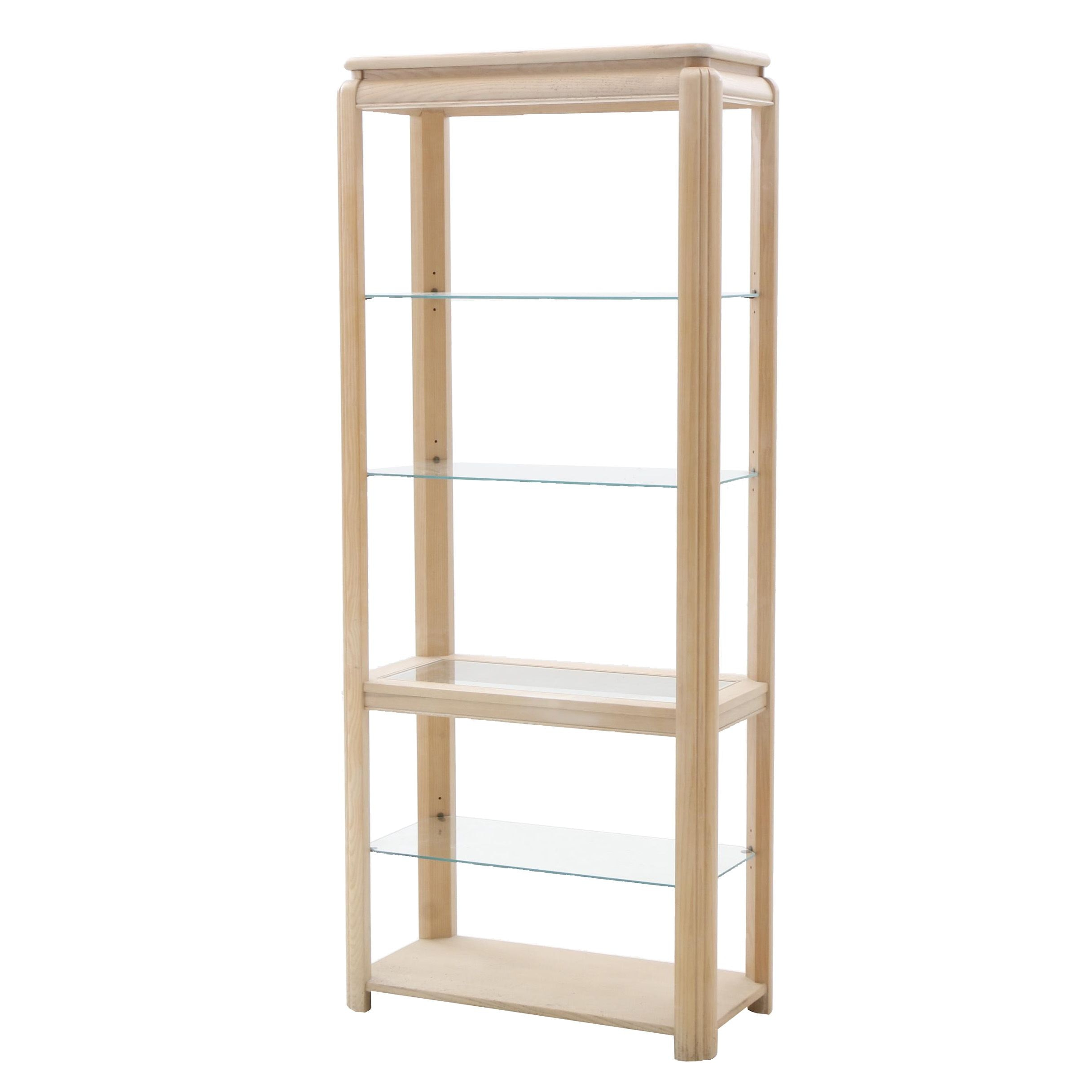 Open Oak Display Cabinet