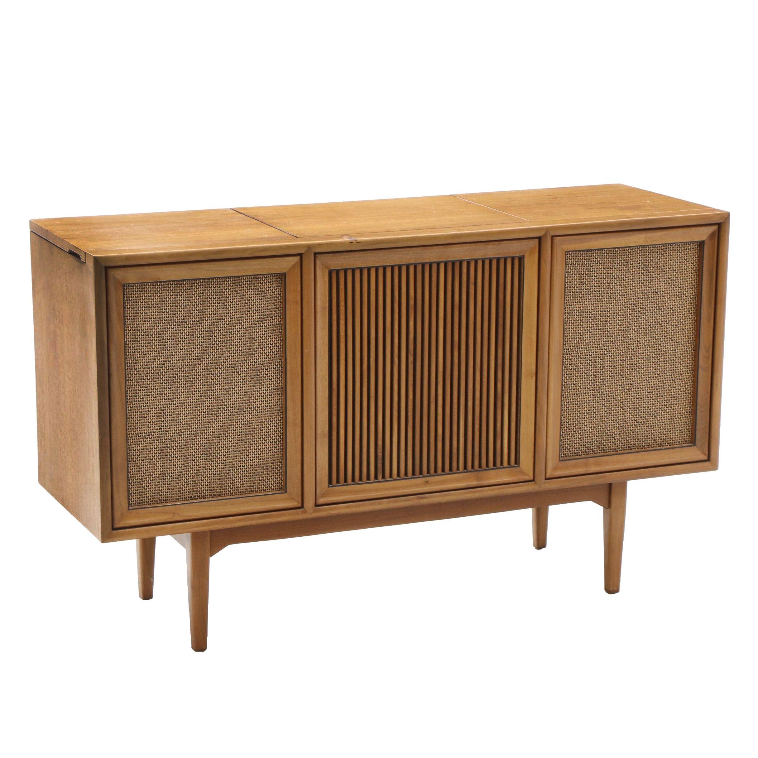 Mid-Century Motorola Stereo Cabinet in Walnut