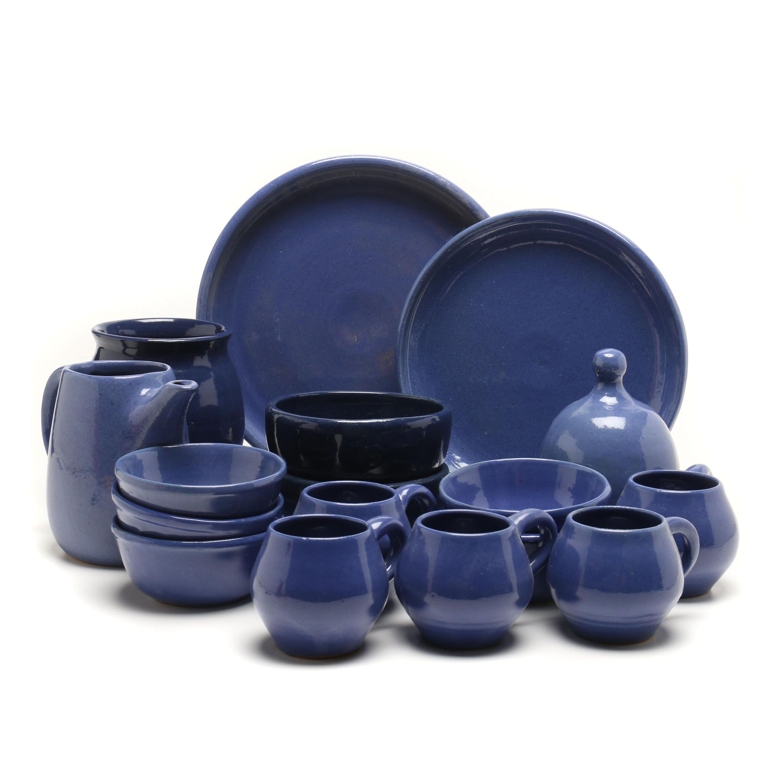 Bybee Pottery Blue Stoneware Tableware