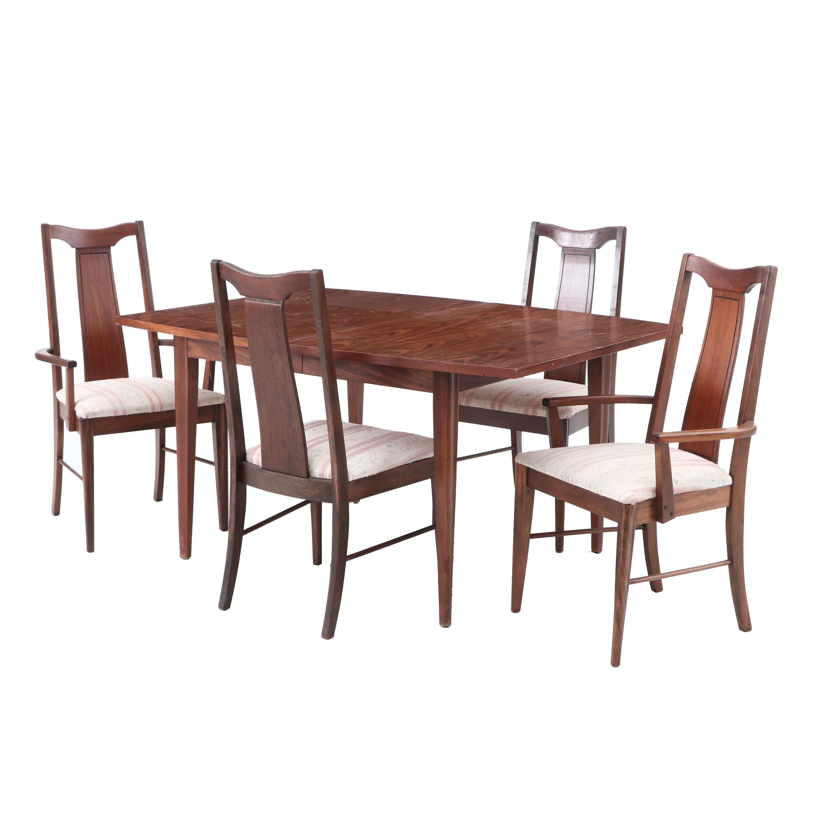 Mid Century Modern Walnut Veneer Dining Set